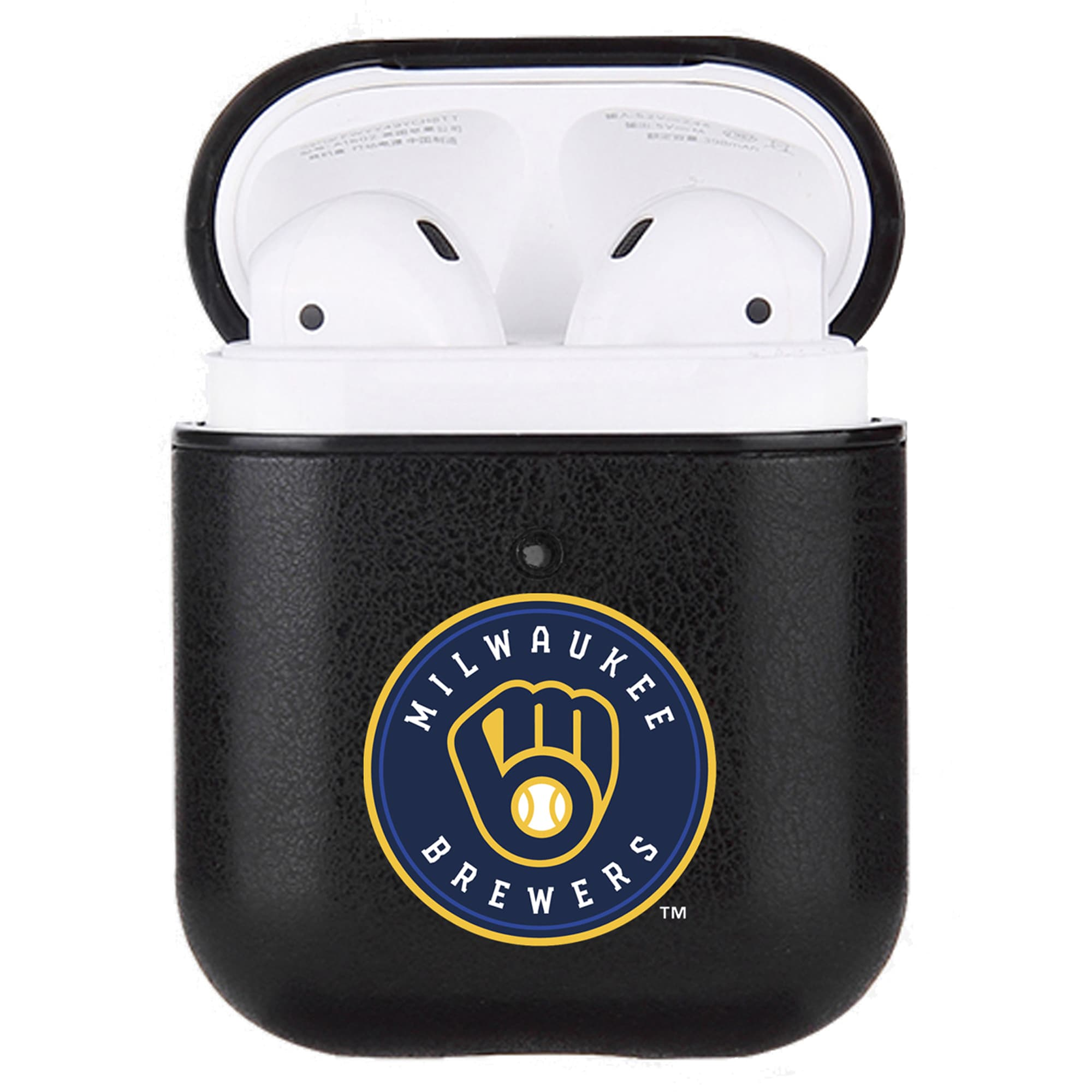 Milwaukee Brewers Air Pods Primary Mark Leatherette Case