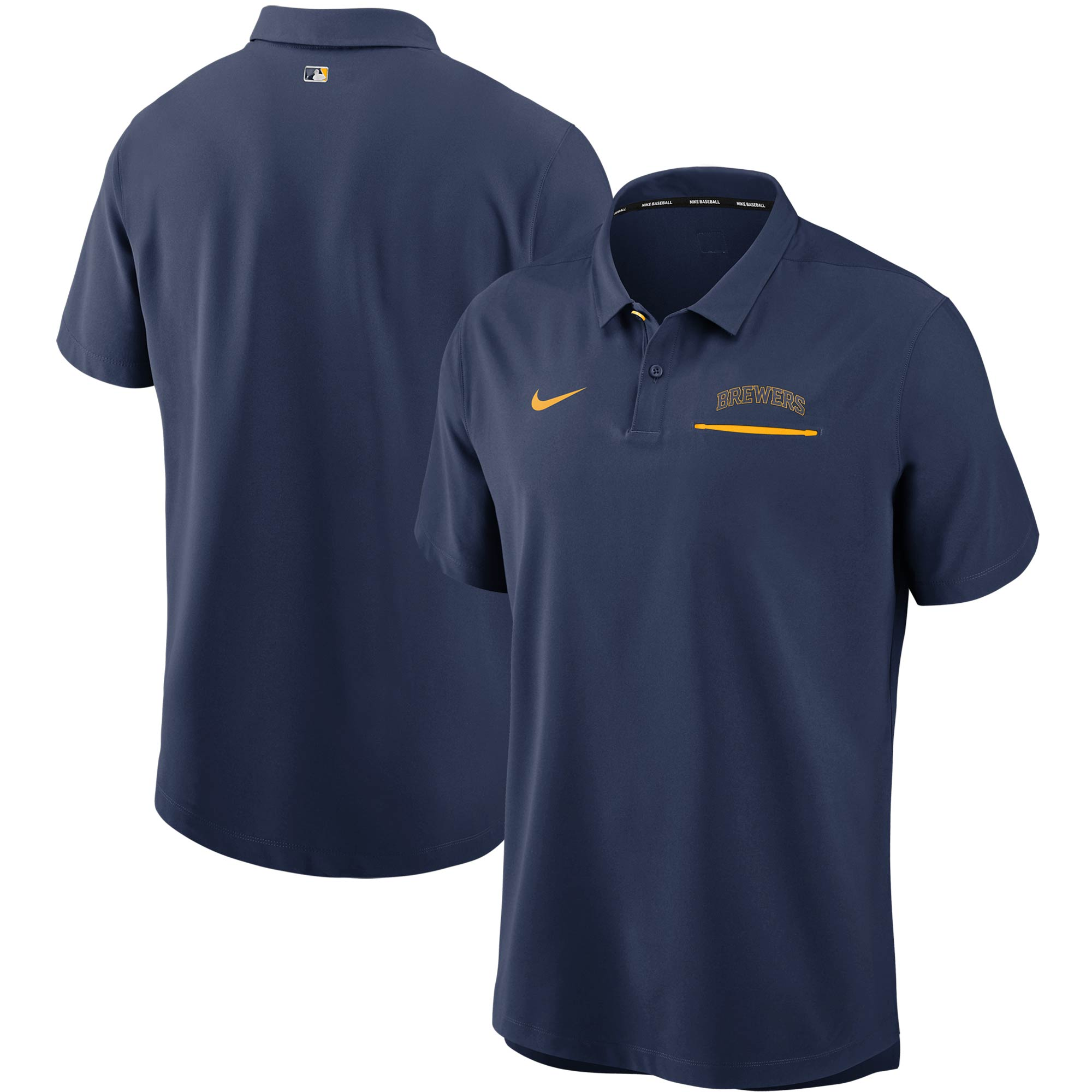 Milwaukee Brewers Nike Authentic Collection Performance Polo - Navy