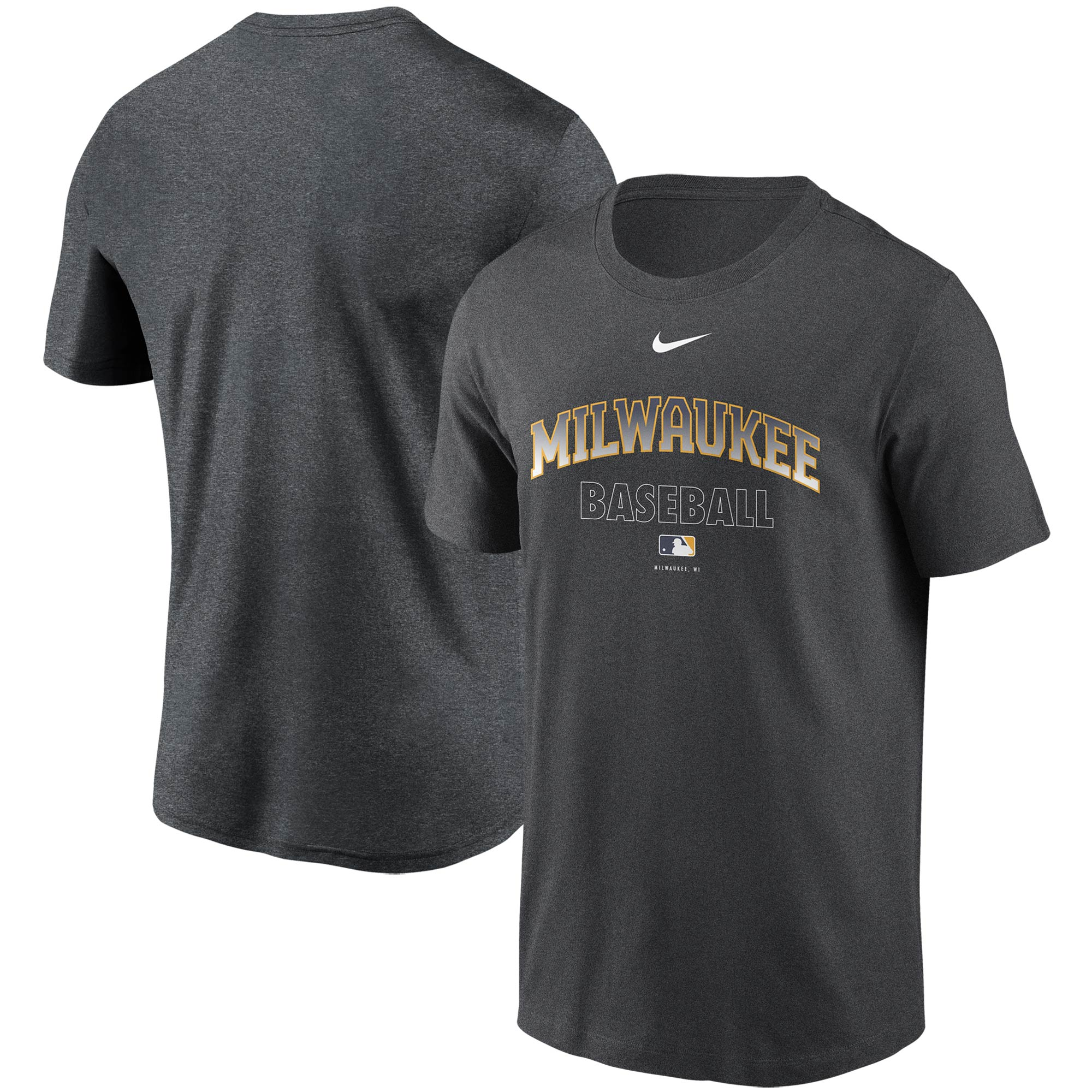 Milwaukee Brewers Nike Authentic Collection Legend Performance T-Shirt - Charcoal