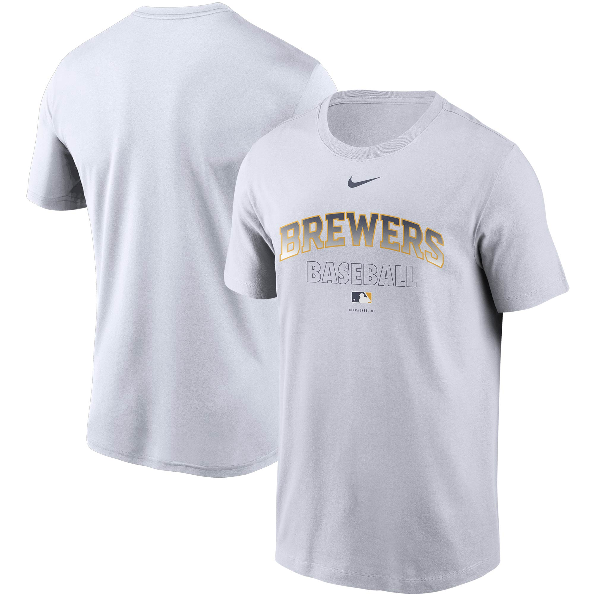 Milwaukee Brewers Nike Authentic Collection Legend Performance T-Shirt - White