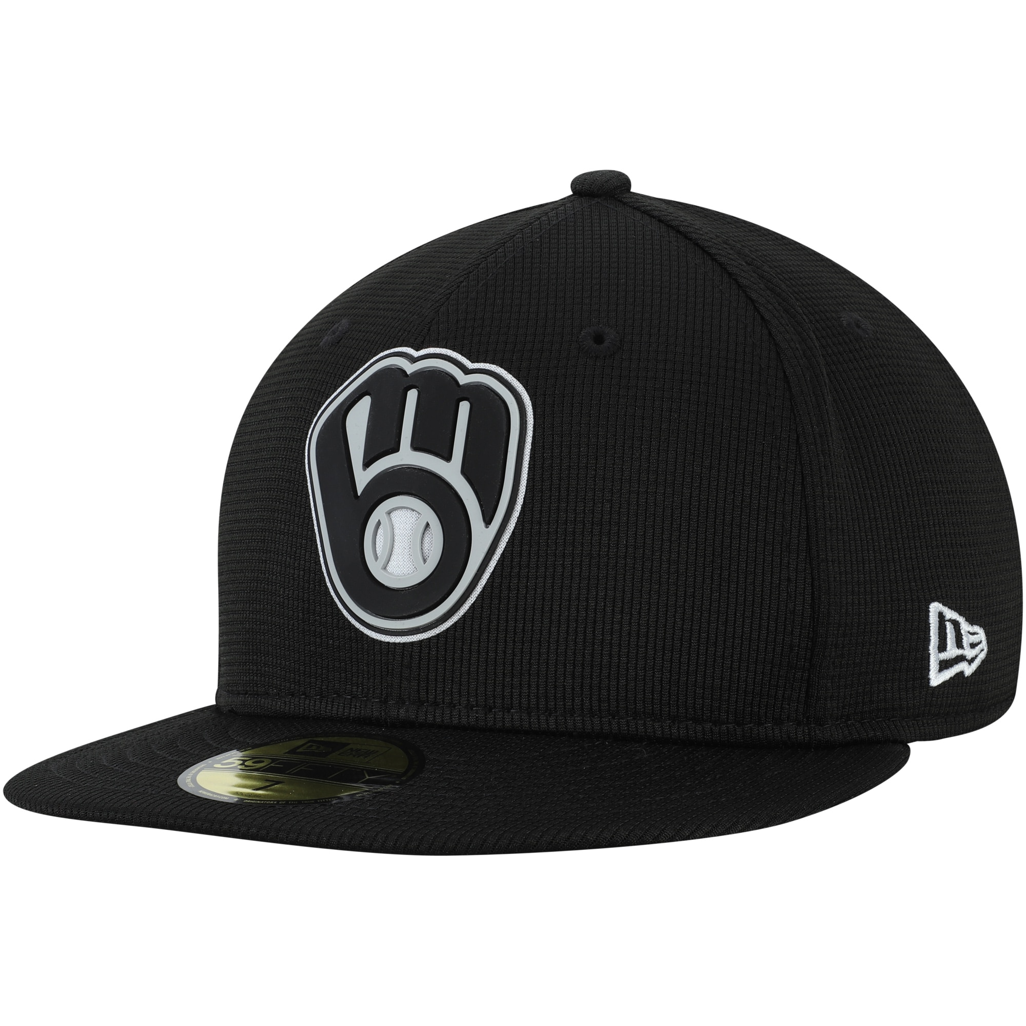 Milwaukee Brewers New Era Team Clubhouse 59FIFTY Fitted Hat - Black