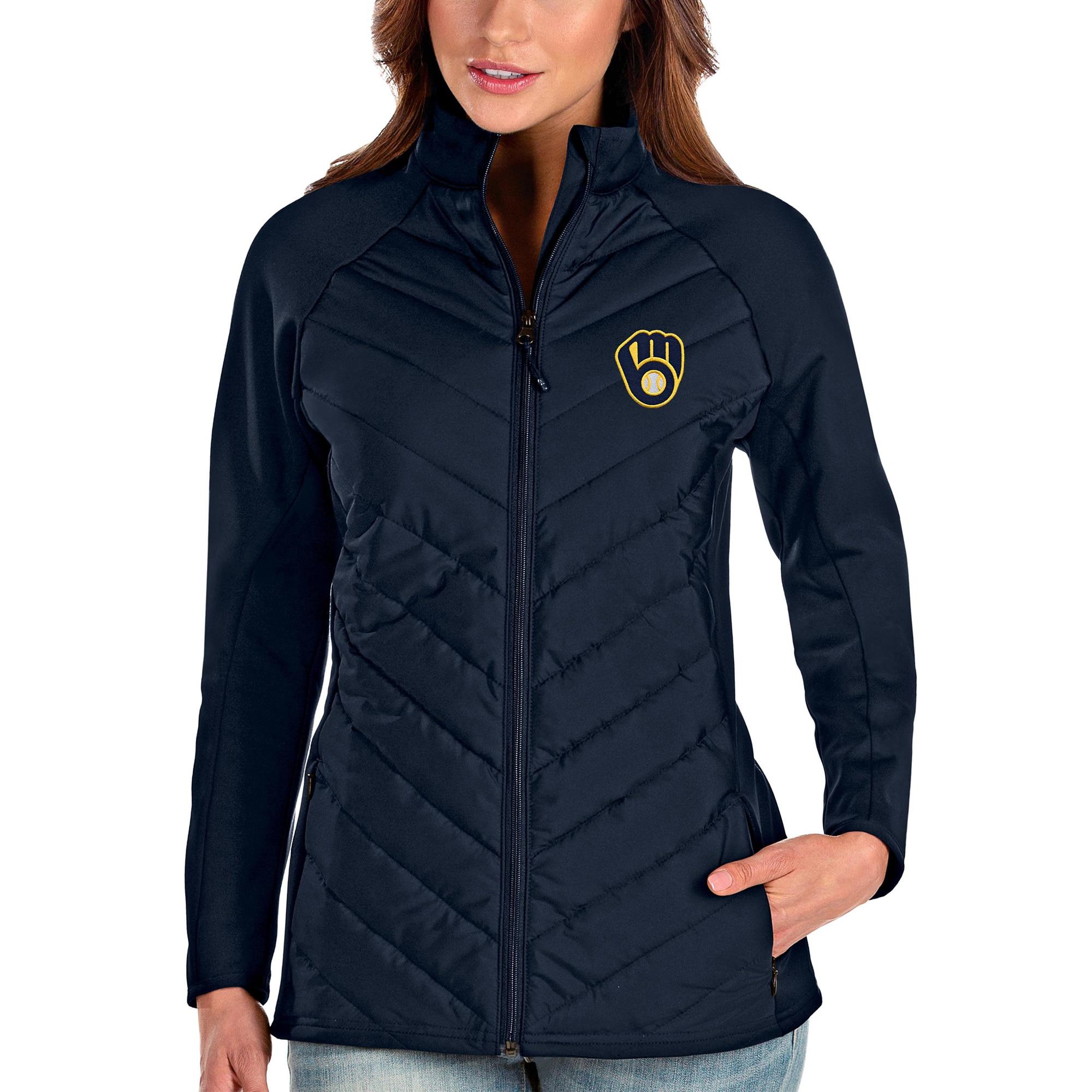 Milwaukee Brewers Antigua Women's Altitude Full-Zip Jacket - Navy