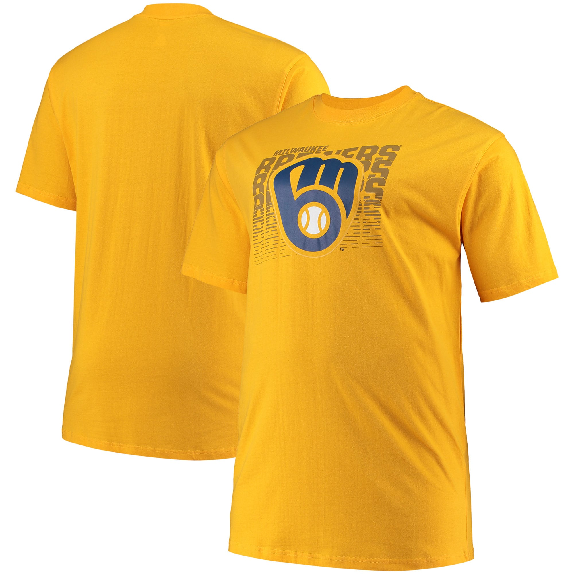 Milwaukee Brewers Big & Tall Open Opportunity Alternate T-Shirt - Gold