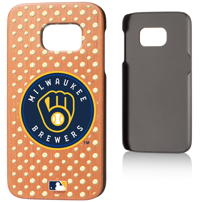 Milwaukee Brewers Galaxy S7 Cherry Wood Case