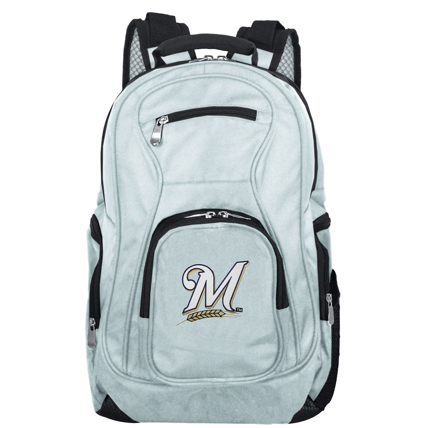Milwaukee Brewers Backpack Laptop - Gray