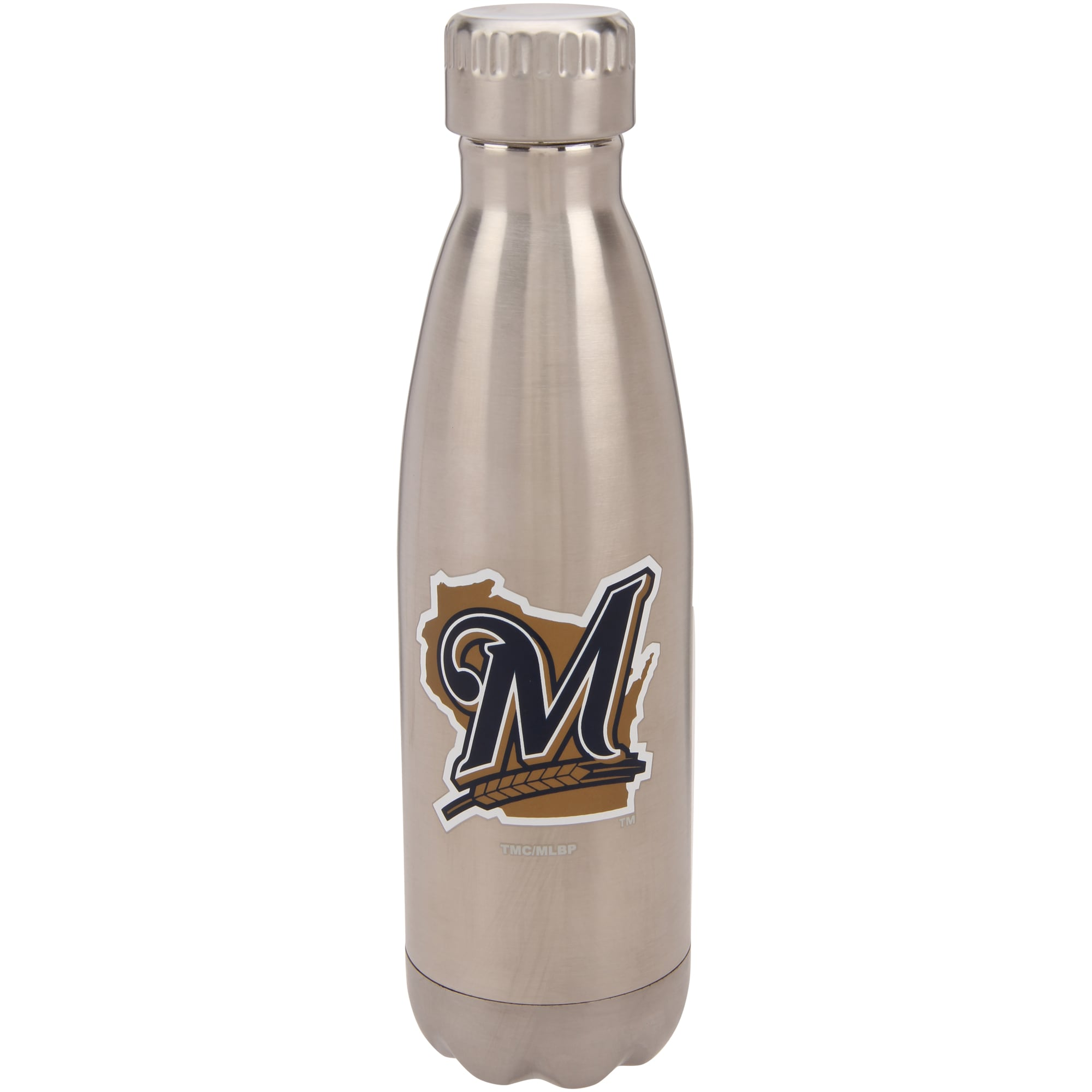 Milwaukee Brewers 16oz. Stainless Steel Water Bottle