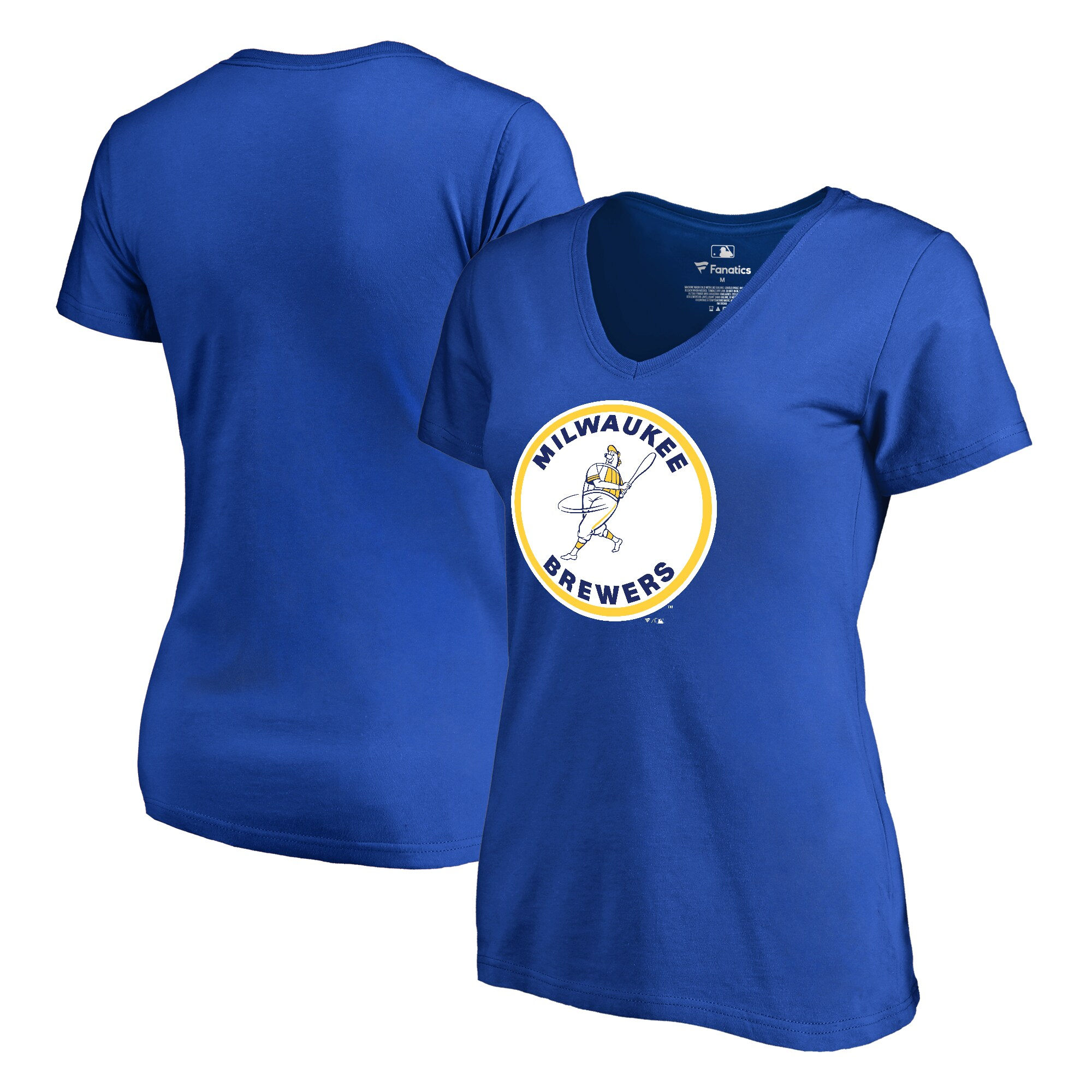 Milwaukee Brewers Fanatics Branded Women's Cooperstown Collection Forbes T-Shirt - Royal