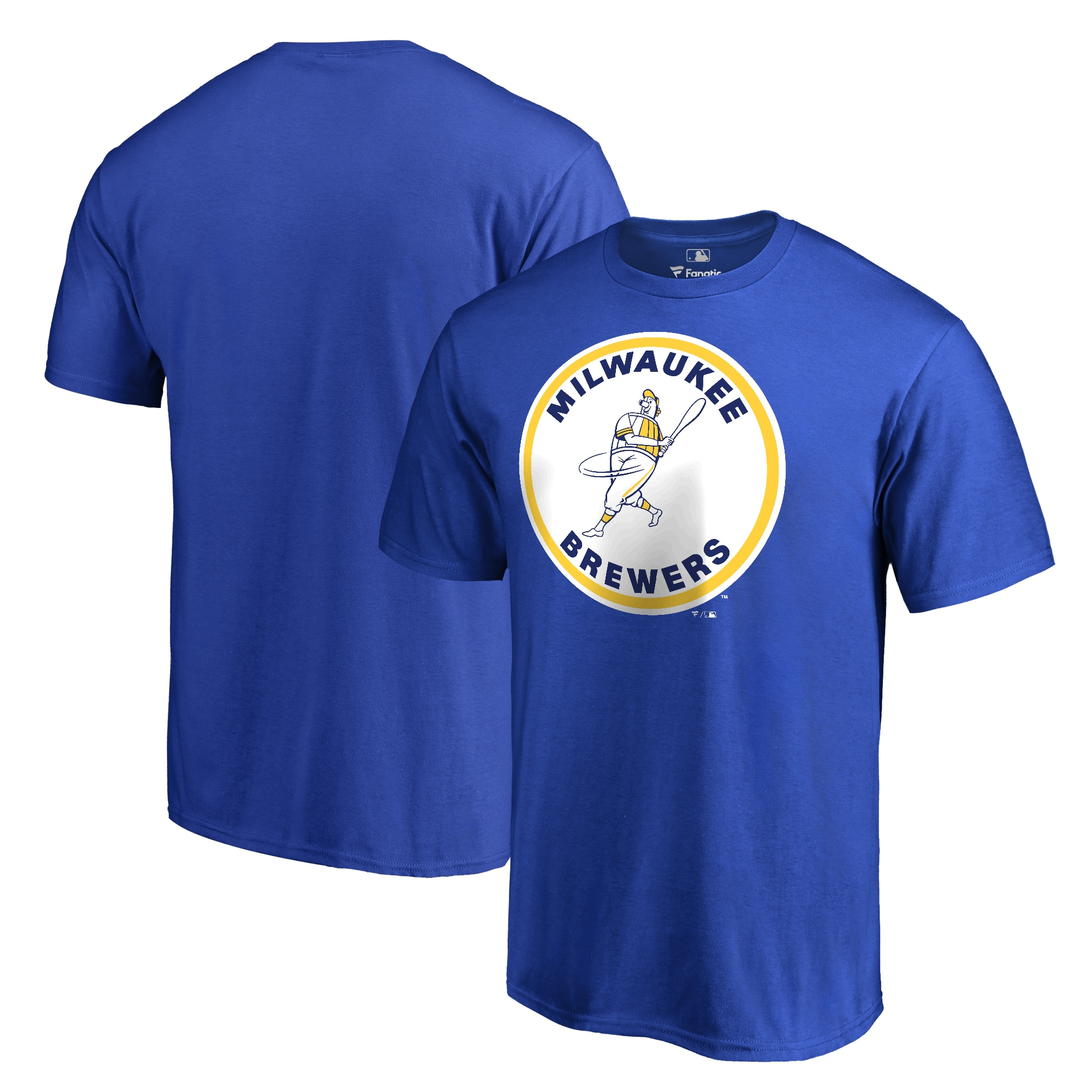 Milwaukee Brewers Fanatics Branded Big & Tall Cooperstown Collection Forbes T-Shirt - Blue