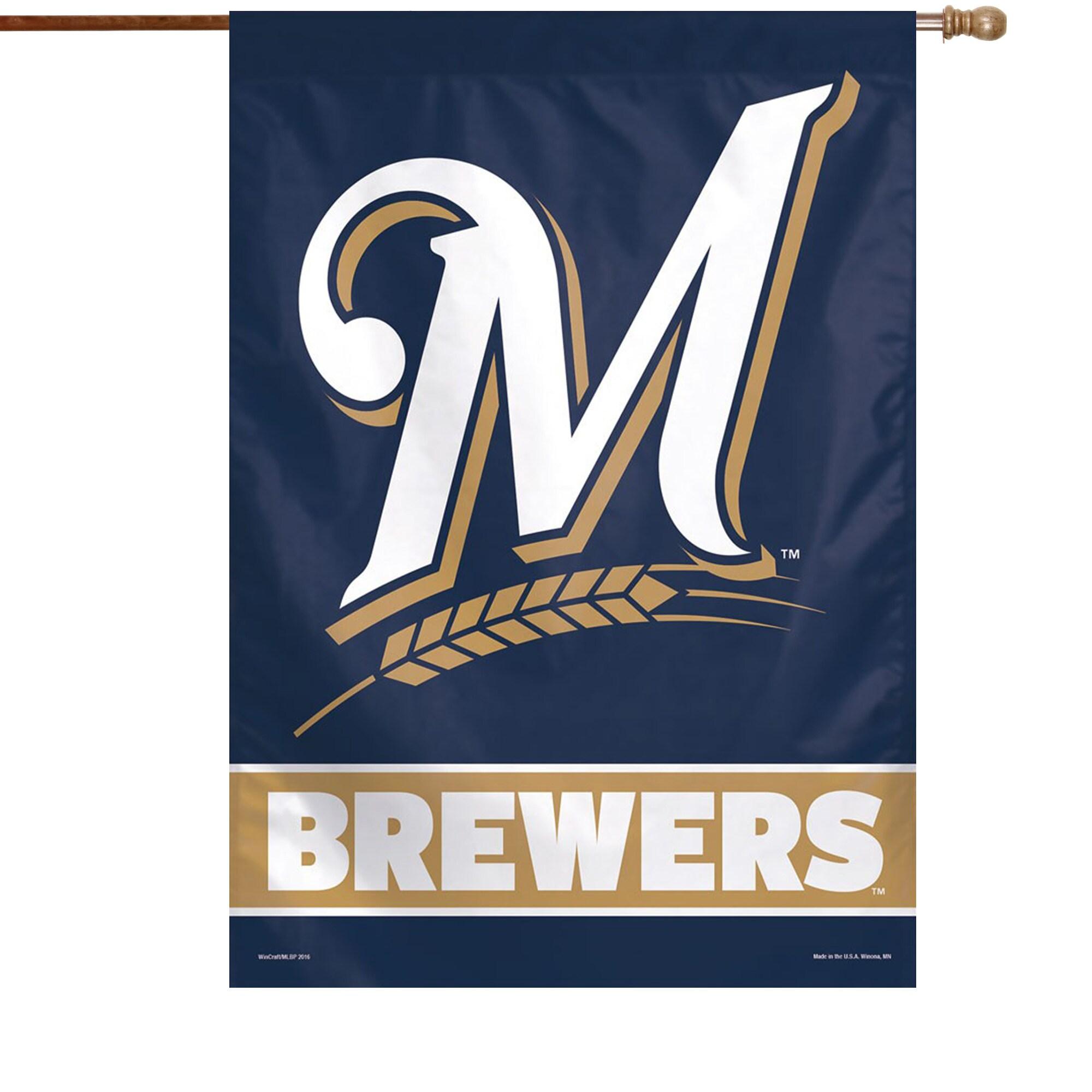 "Milwaukee Brewers WinCraft 28"" x 40"" Wordmark Single-Sided Vertical Banner"