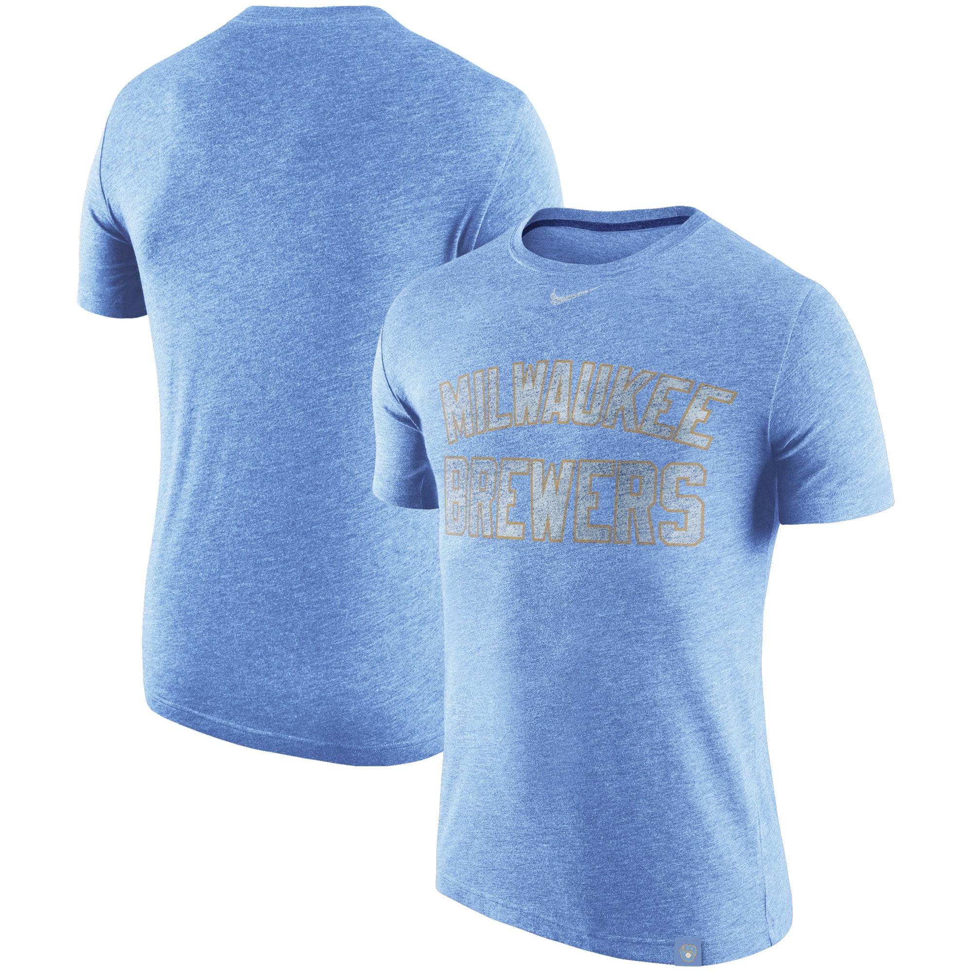 Milwaukee Brewers Nike Tri-Blend DNA Performance T-Shirt - Heathered Royal