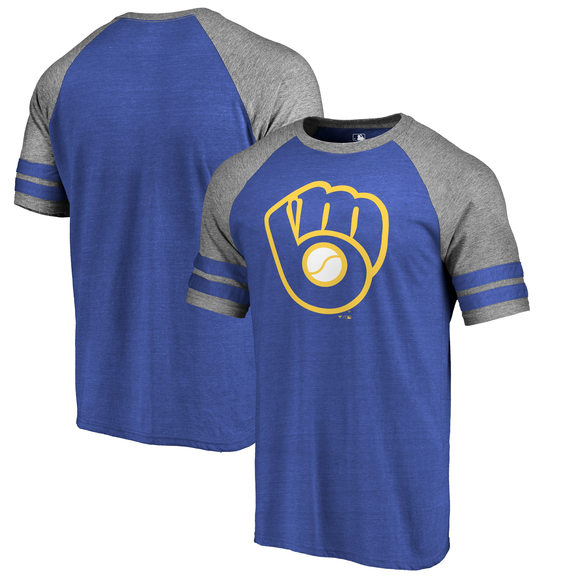 Milwaukee Brewers Fanatics Branded Huntington Cooperstown Collection Tri-Blend T-Shirt - Royal