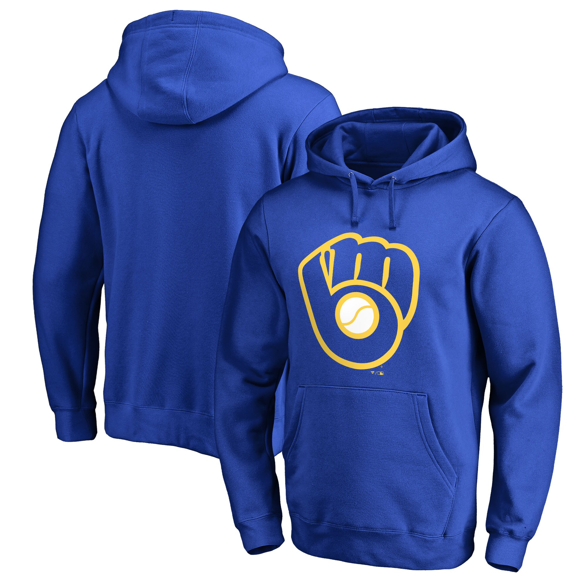 Milwaukee Brewers Fanatics Branded Cooperstown Collection Huntington Pullover Hoodie - Royal