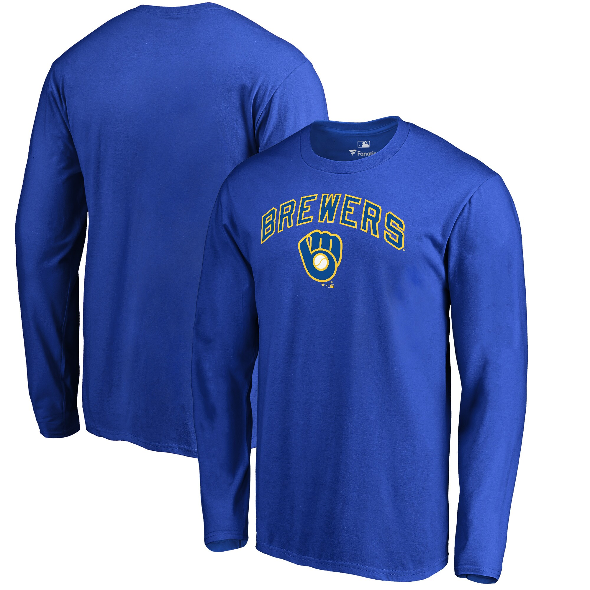 Milwaukee Brewers Fanatics Branded Big & Tall Cooperstown Collection Wahconah Long Sleeve T-Shirt - Royal