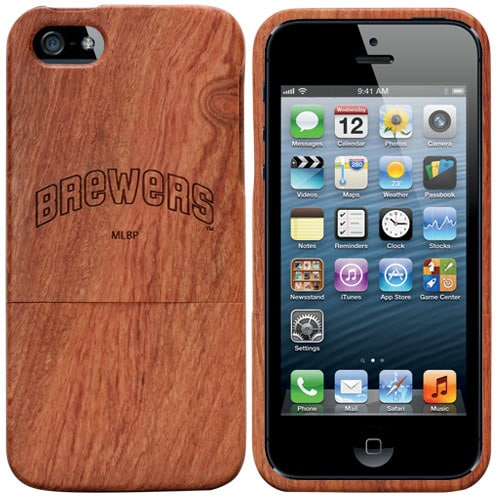 Milwaukee Brewers Cooperstown Collection Logo Madera Wood iPhone 5/5S Case