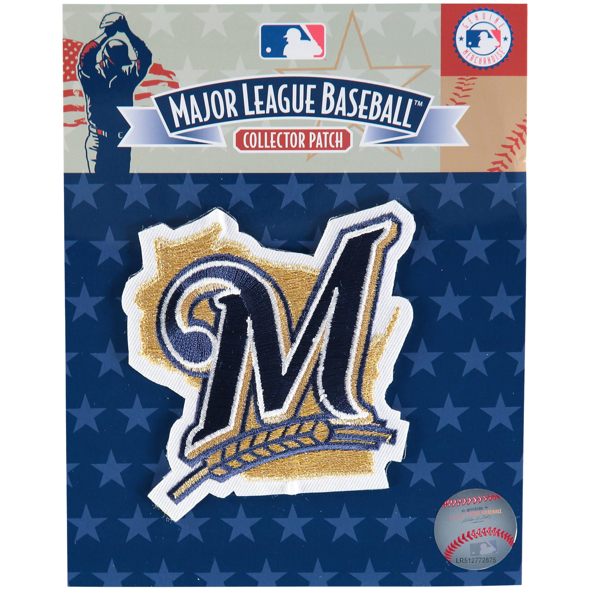 "Milwaukee Brewers ""M"" Secondary Logo Patch - Gold/Navy"