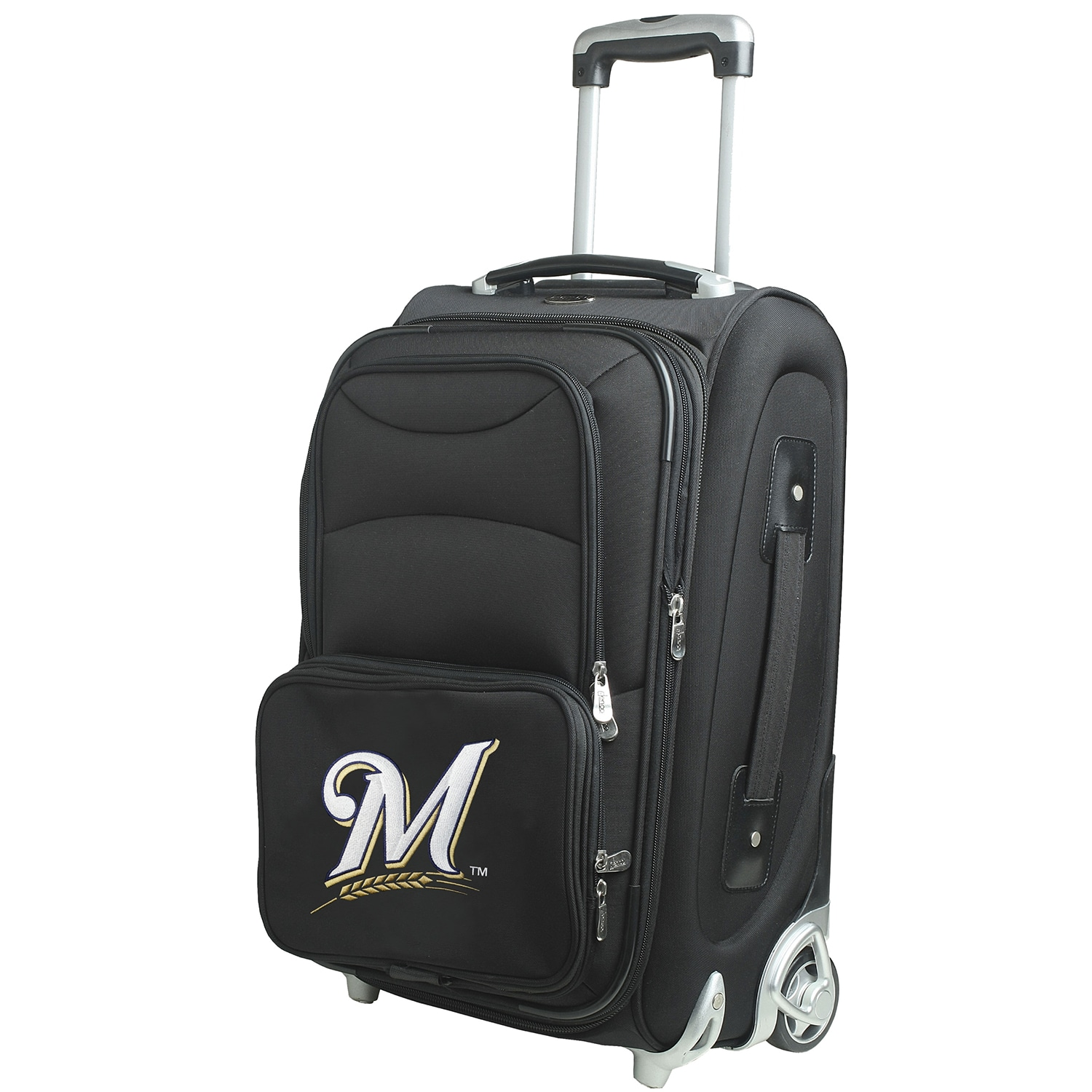 """Milwaukee Brewers 21"""" Rolling Carry-On Suitcase"""