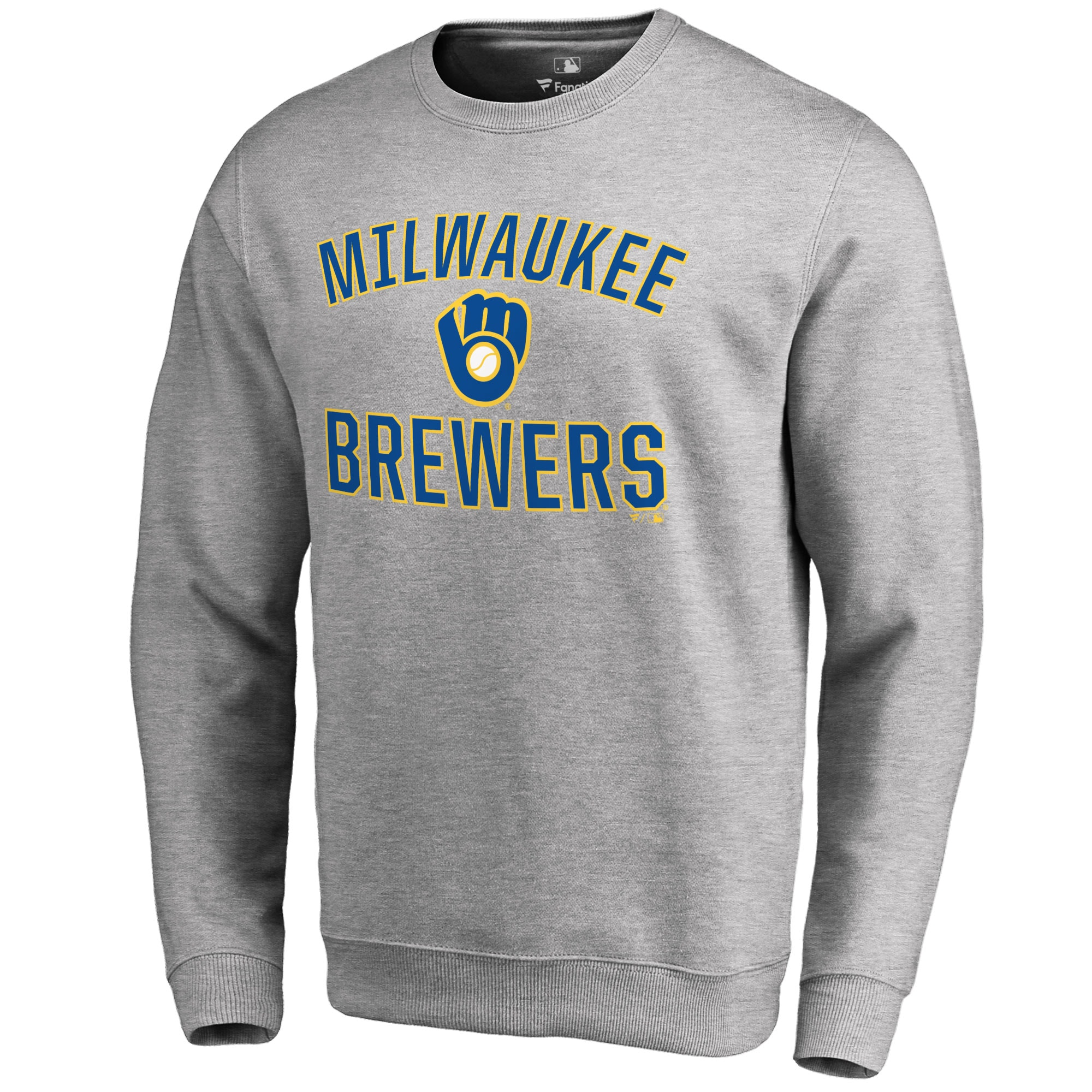 Milwaukee Brewers Victory Arch Pullover Sweatshirt - Ash