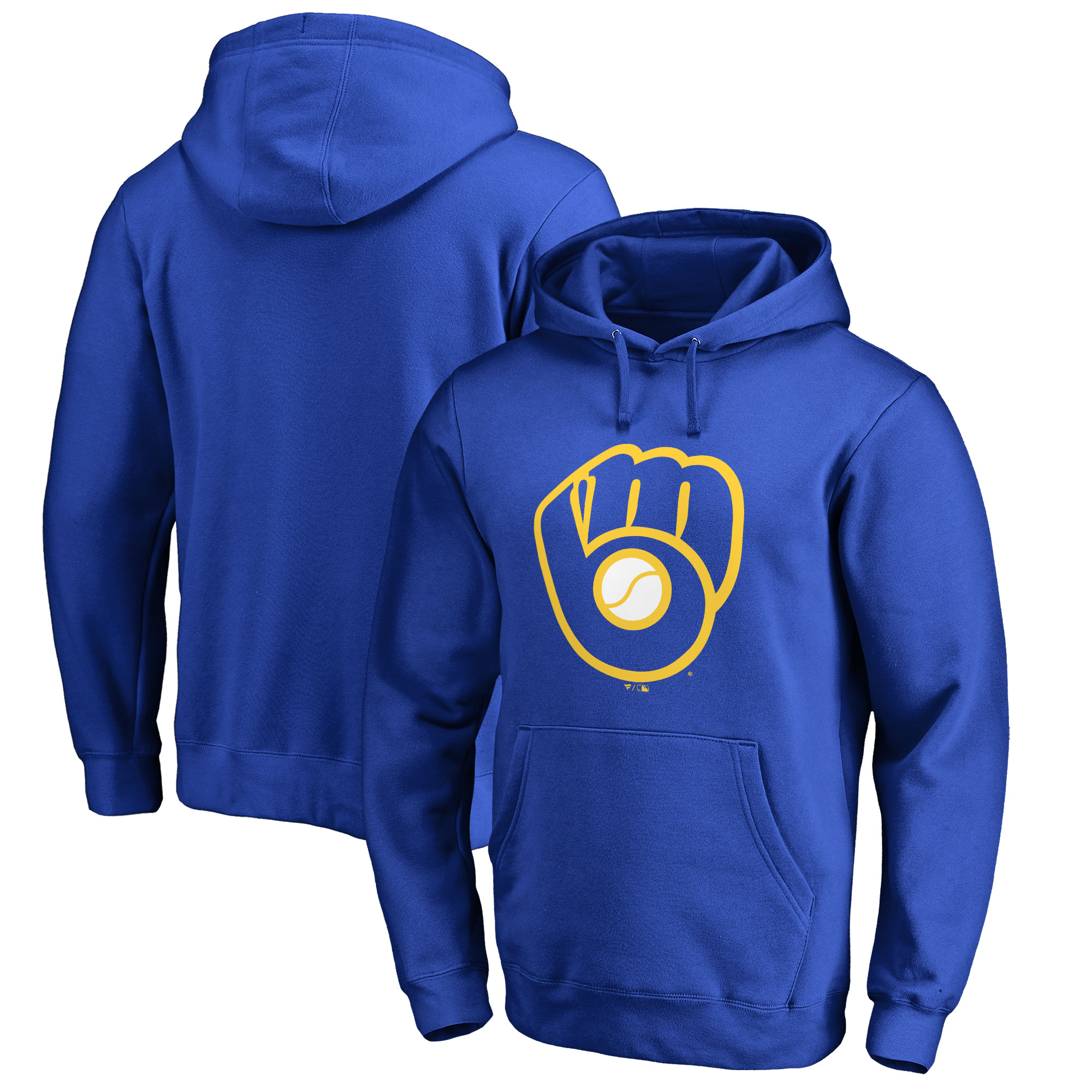 Milwaukee Brewers Big & Tall Primary Team Logo Pullover Hoodie - Royal