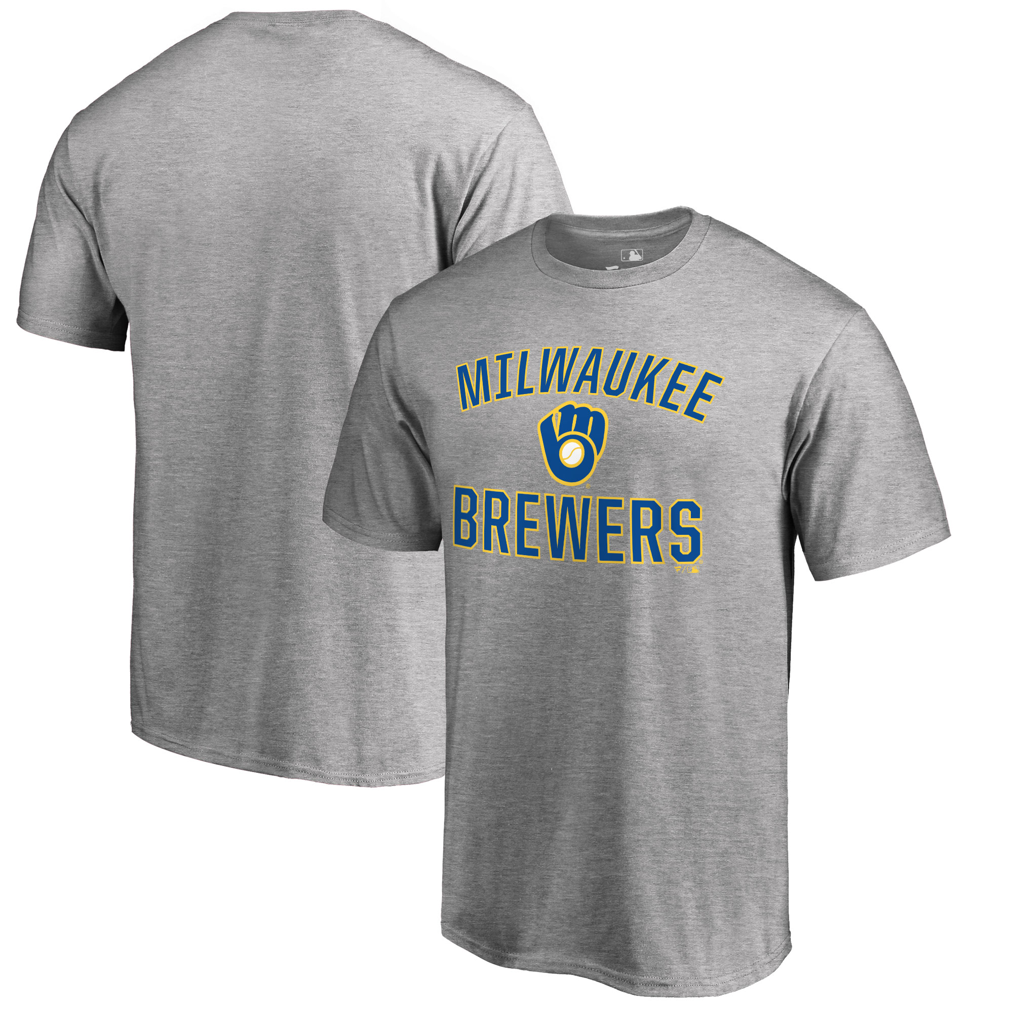 Milwaukee Brewers Big & Tall Victory Arch T-Shirt - Ash