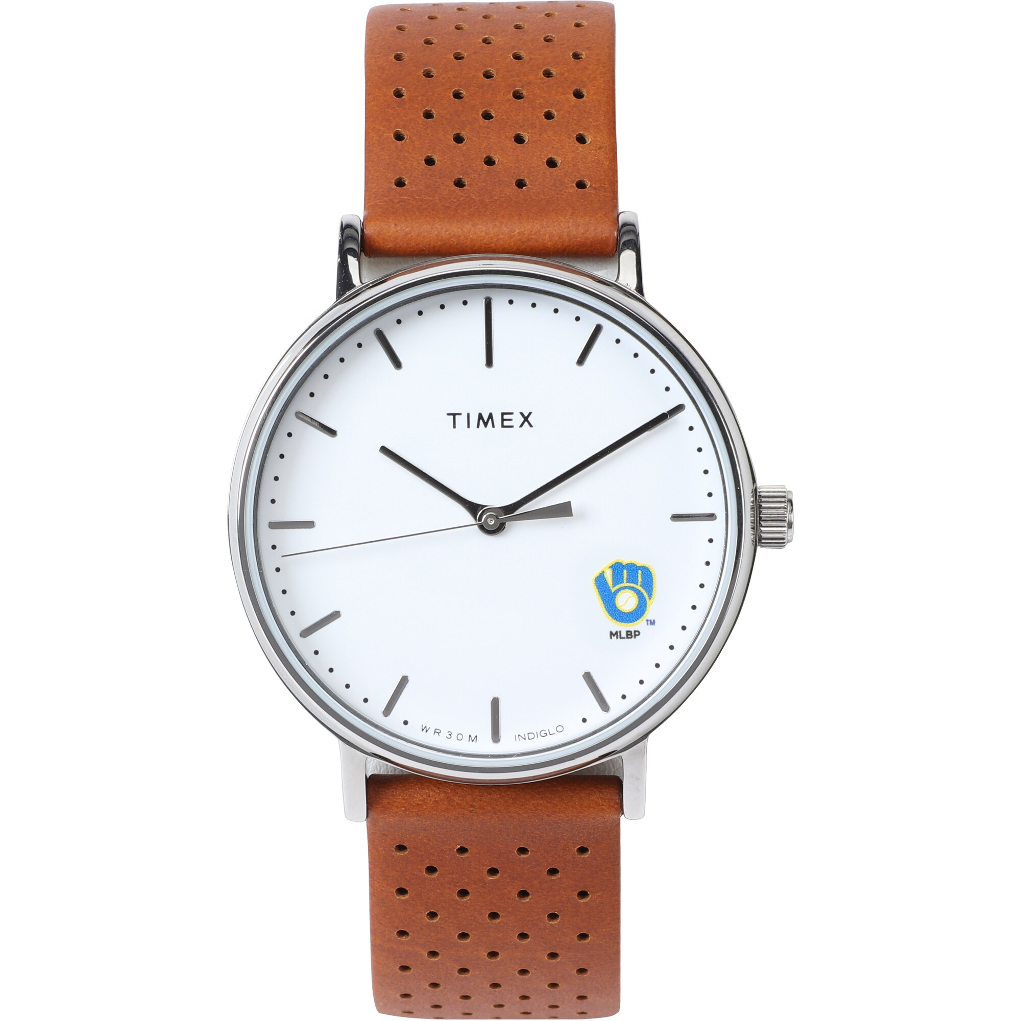 Milwaukee Brewers Timex Bright Whites Tribute Collection Watch