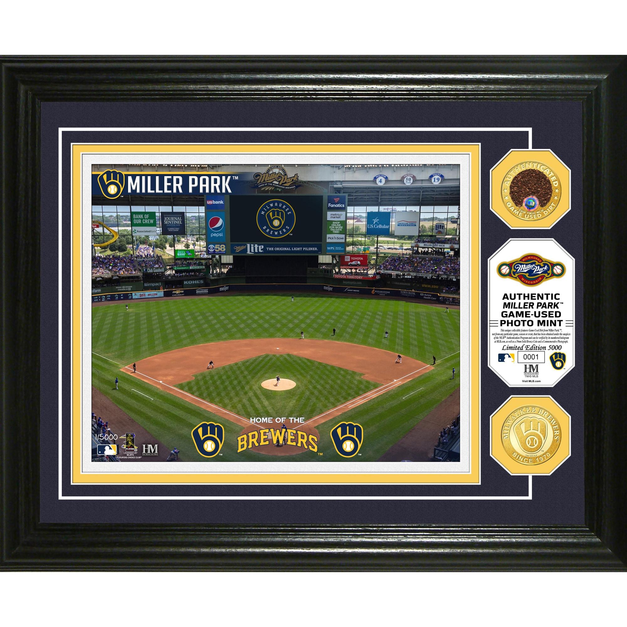Milwaukee Brewers Highland Mint 13'' x 16'' Dirt Coin Photo Mint