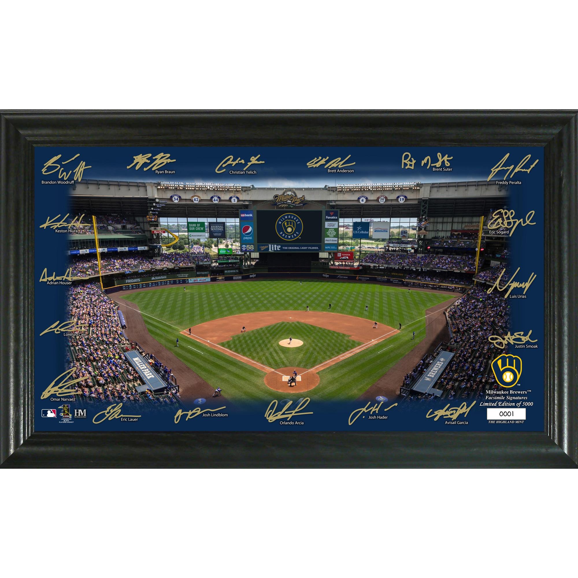 Milwaukee Brewers Highland Mint 12'' x 20'' Signature Field Limited Editon Framed Photo Mint