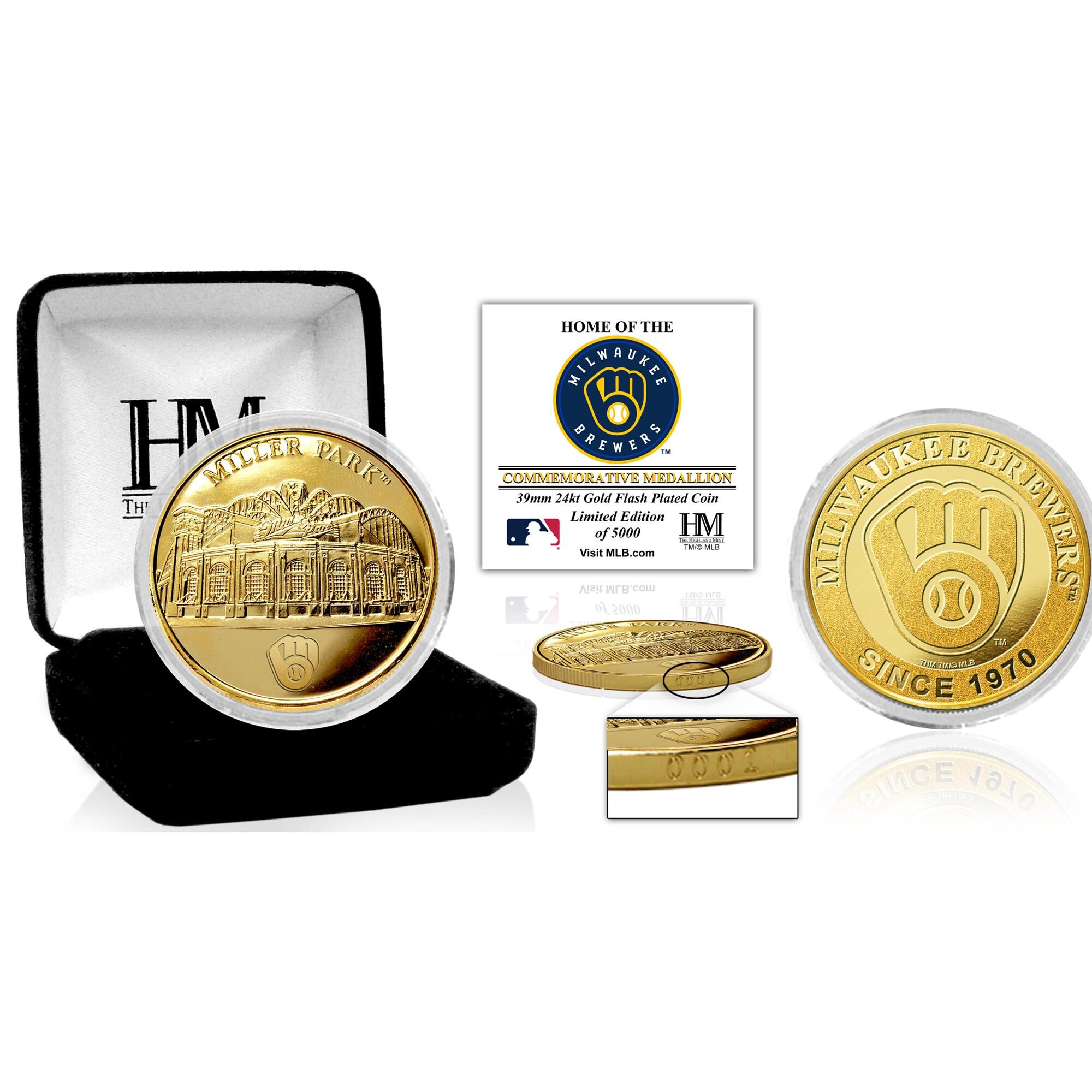 Milwaukee Brewers Highland Mint Stadium Gold Mint Coin