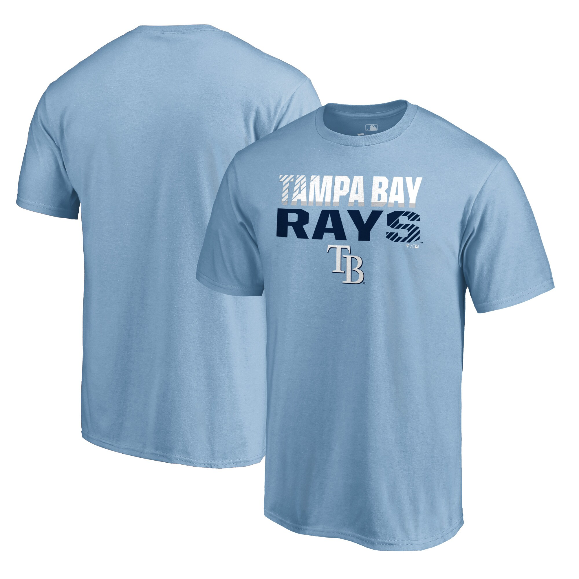 Tampa Bay Rays Fanatics Branded Fade Out T-Shirt - Light Blue