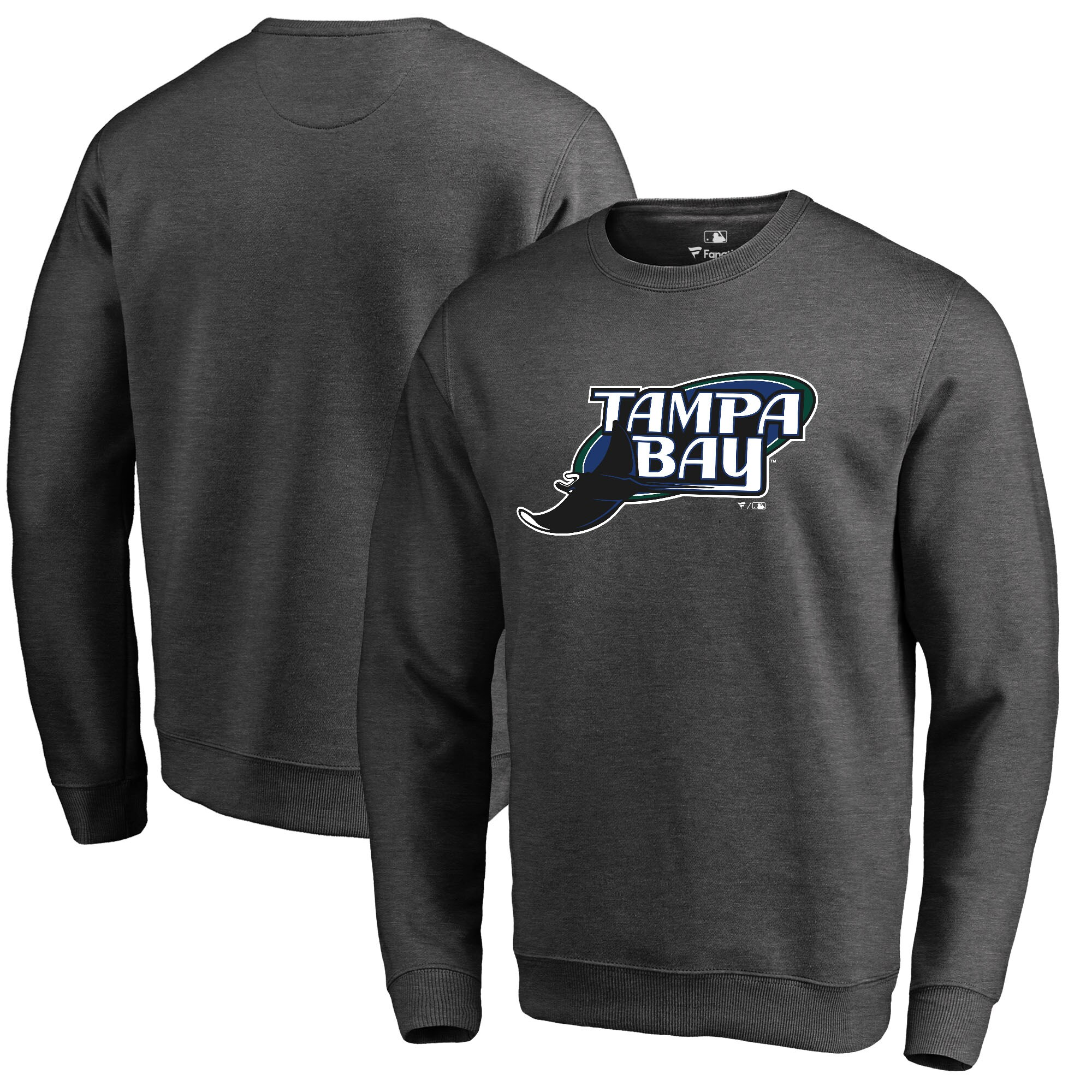 Tampa Bay Rays Fanatics Branded Cooperstown Collection Huntington Sweatshirt - Heathered Gray