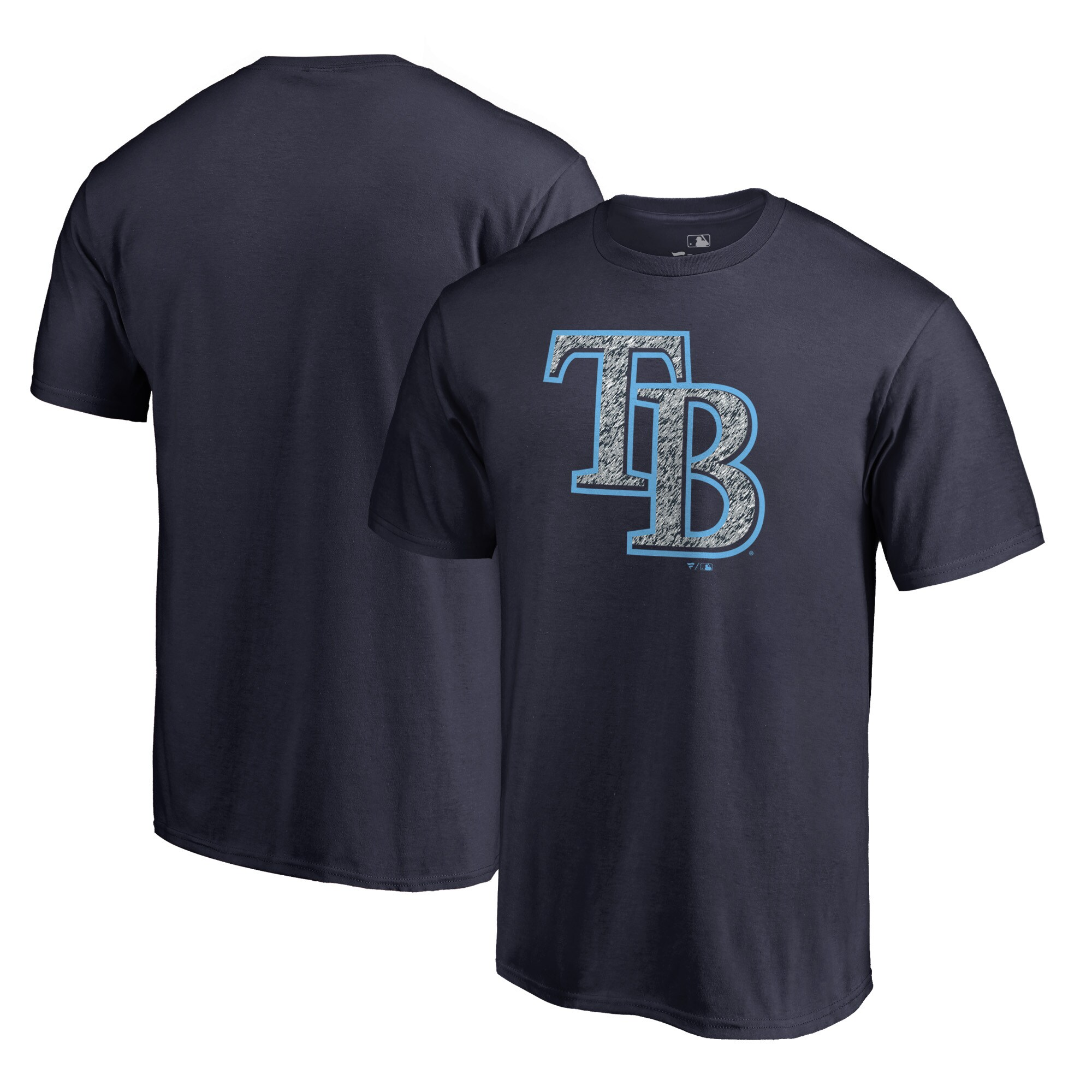 Tampa Bay Rays Fanatics Branded Static Logo Big & Tall T-Shirt - Navy