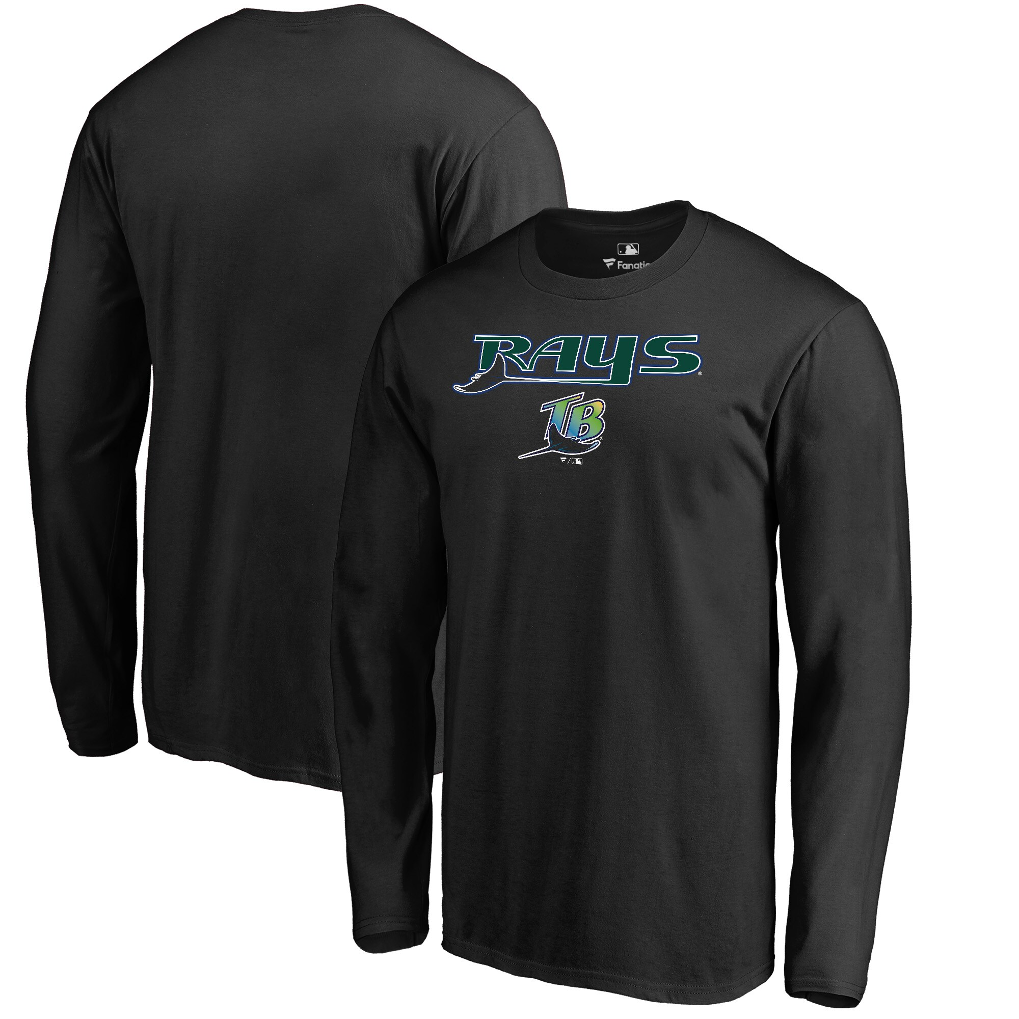 Tampa Bay Rays Fanatics Branded Cooperstown Collection Wahconah Long Sleeve T-Shirt - Black