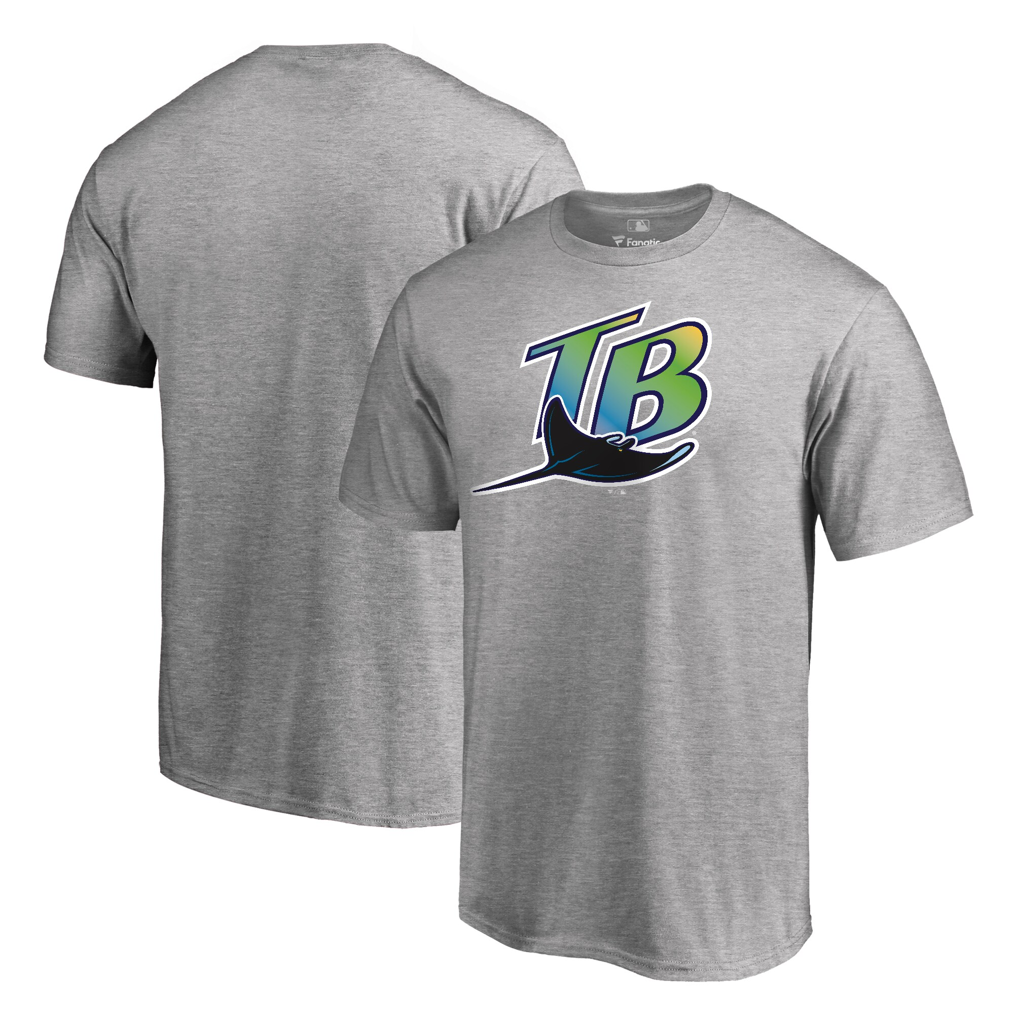 Tampa Bay Rays Fanatics Branded Cooperstown Collection Forbes T-Shirt - Ash