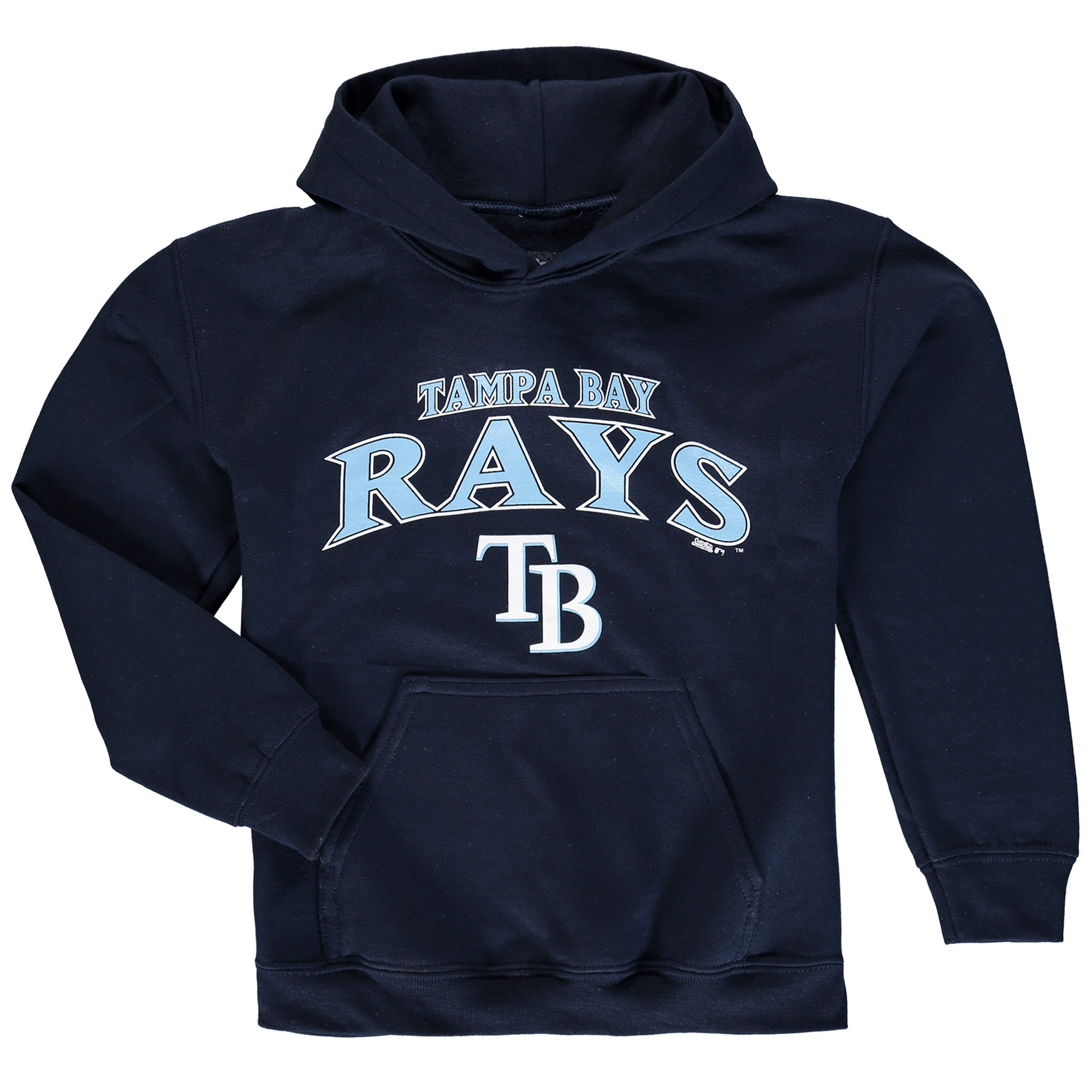 Tampa Bay Rays Stitches Youth Team Fleece Pullover Hoodie - Navy