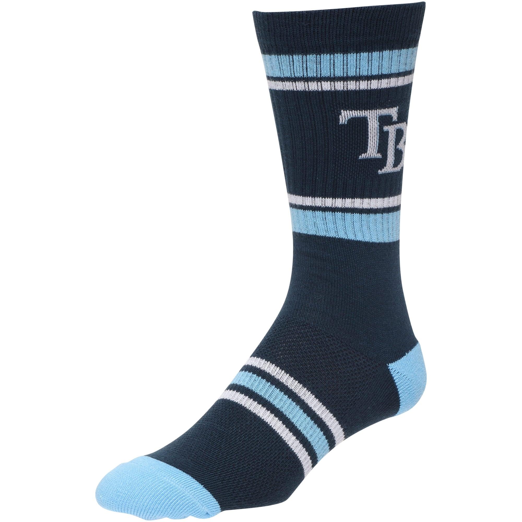 Tampa Bay Rays Stripe Crew Socks - Navy
