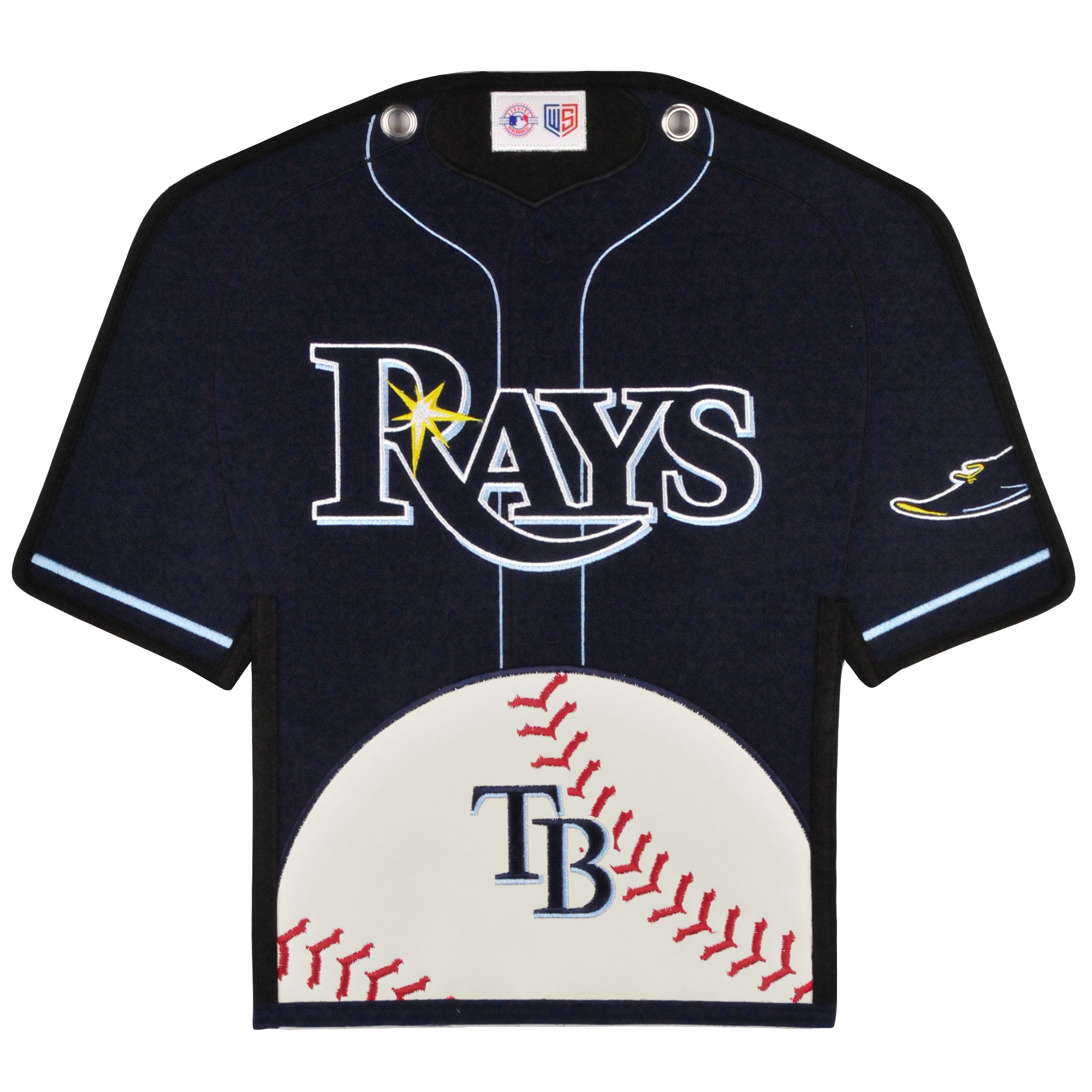 Tampa Bay Rays 14'' x 22'' Jersey Traditions Banner - Navy/White