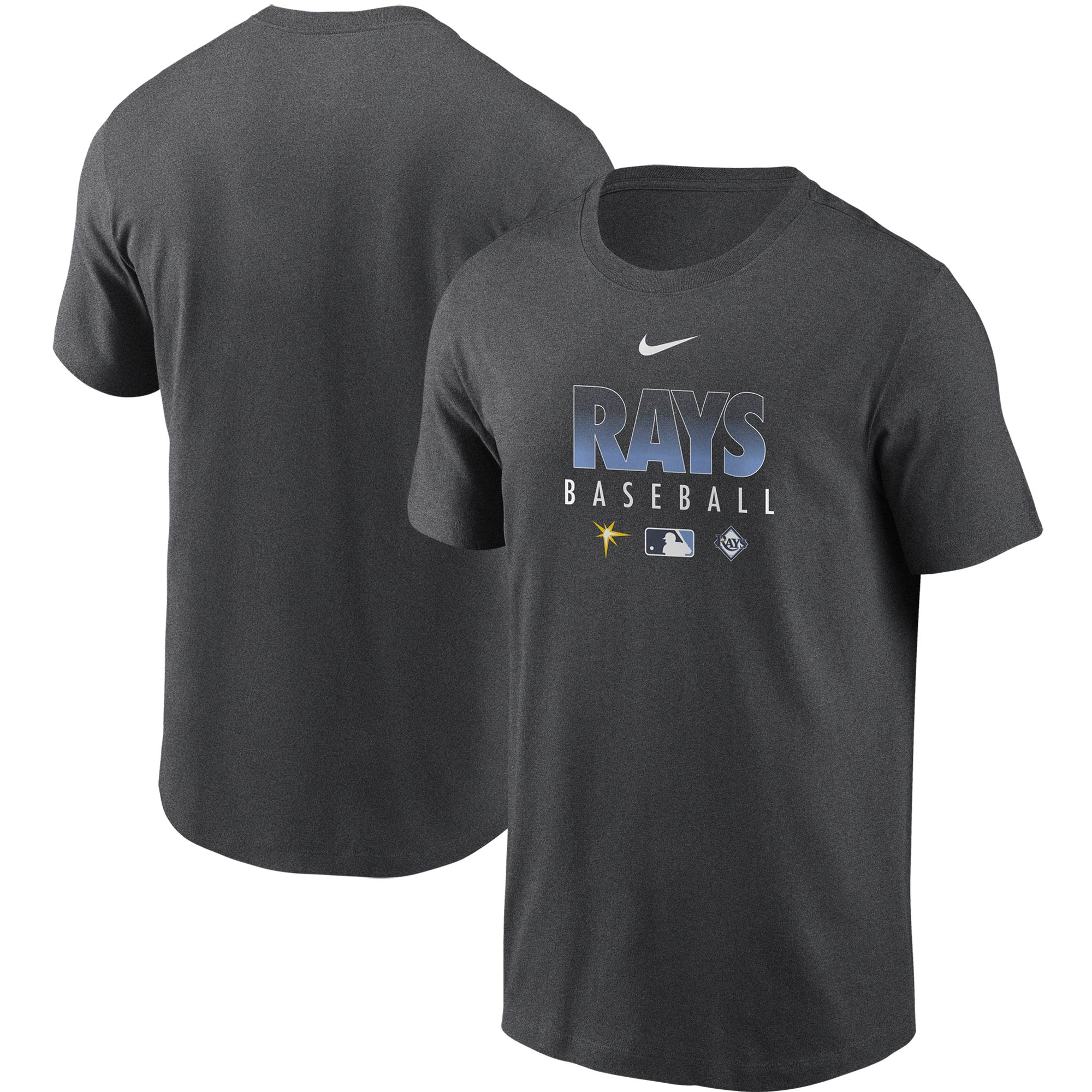 Tampa Bay Rays Nike Authentic Collection Team Performance T-Shirt - Gray