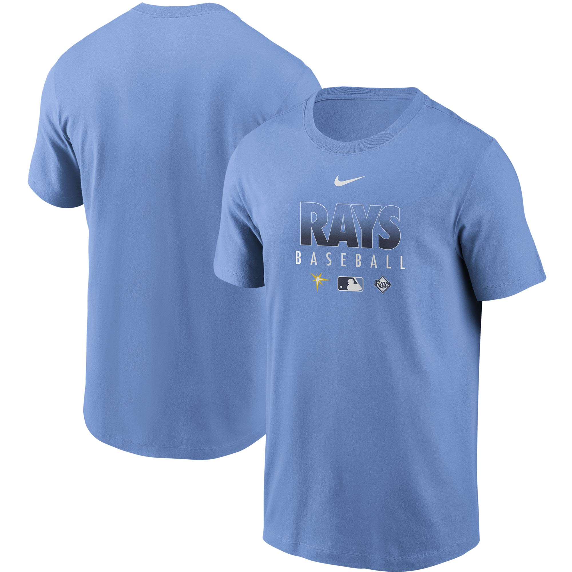 Tampa Bay Rays Nike Authentic Collection Team Performance T-Shirt - Light Blue