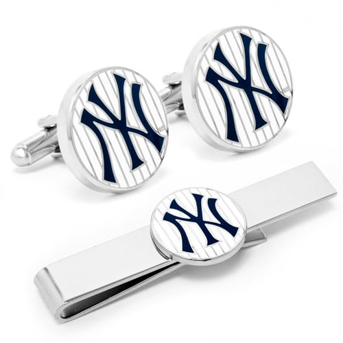 New York Yankees Tie Bar & Cufflinks Set