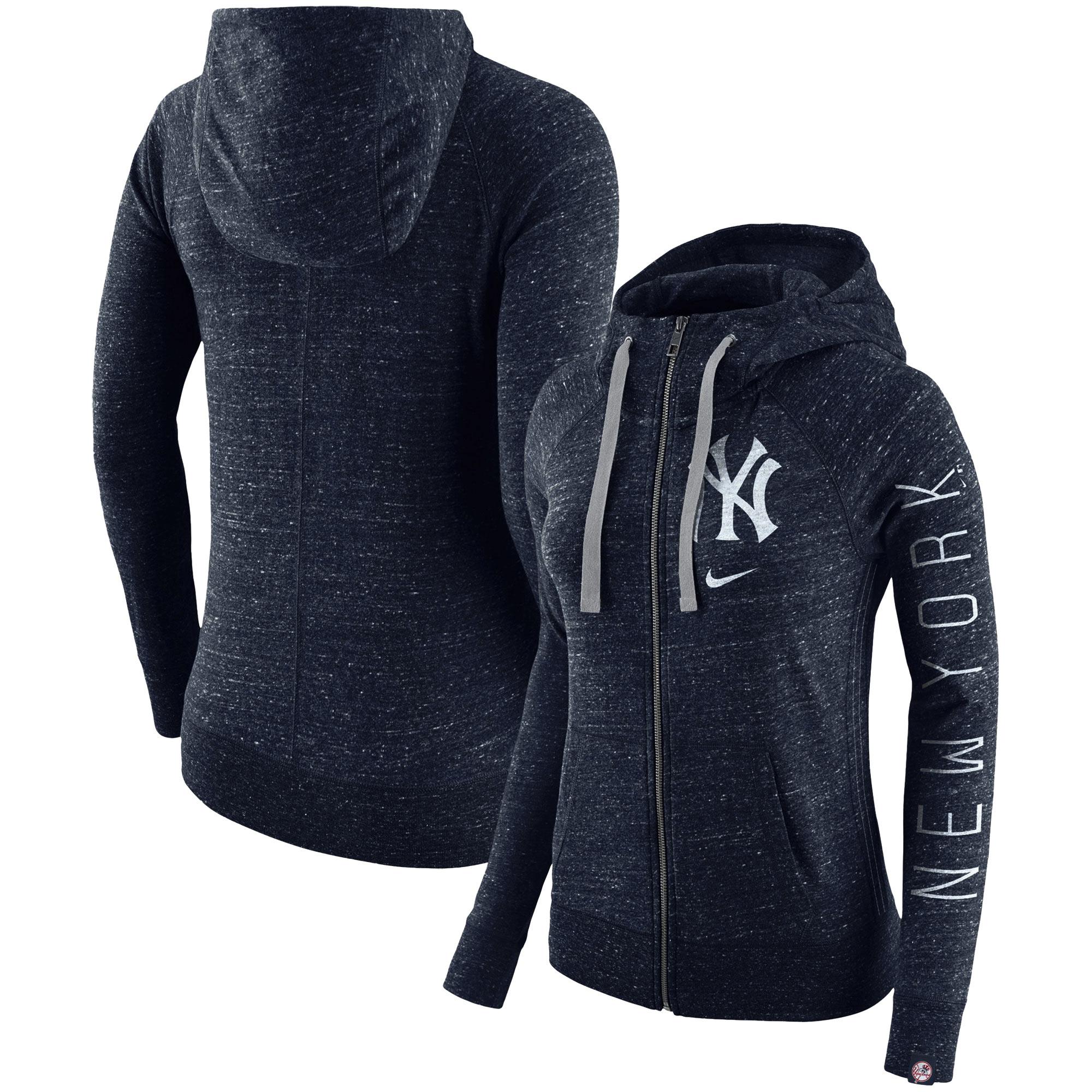 New York Yankees Nike Women's Vintage Full-Zip Hoodie - Navy