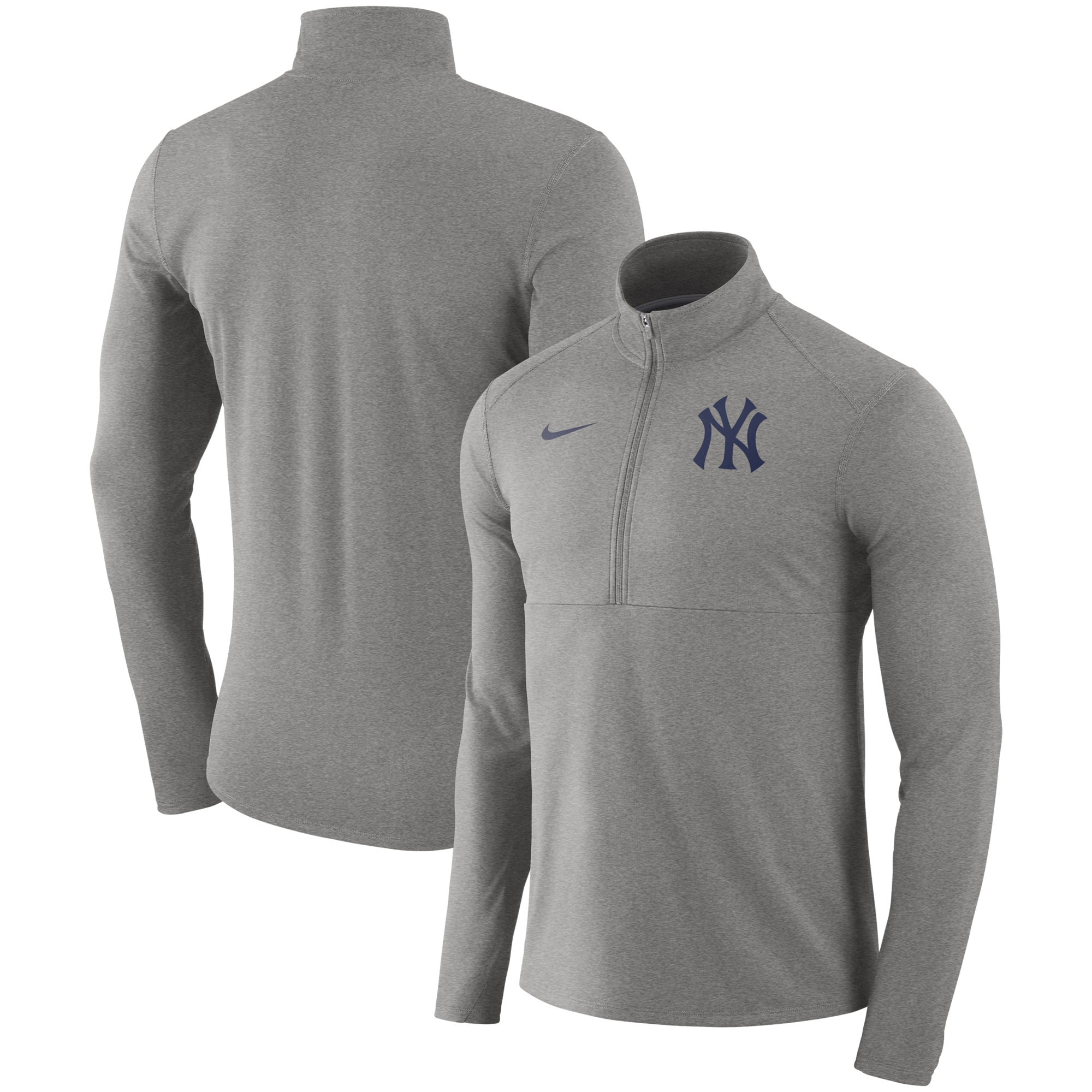 New York Yankees Nike Dry Element Half-Zip Performance Pullover - Gray