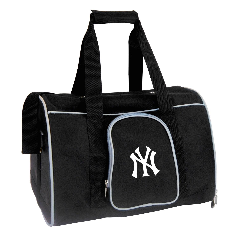 "New York Yankees Small 16"" Pet Carrier - Black"