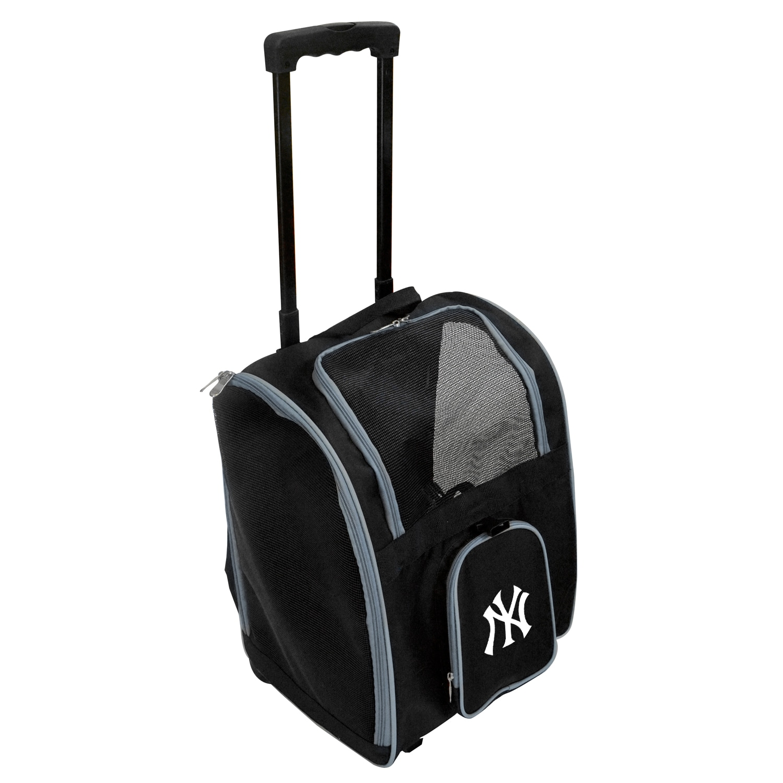 New York Yankees 2-Wheeled Roller Pet Carrier - Black