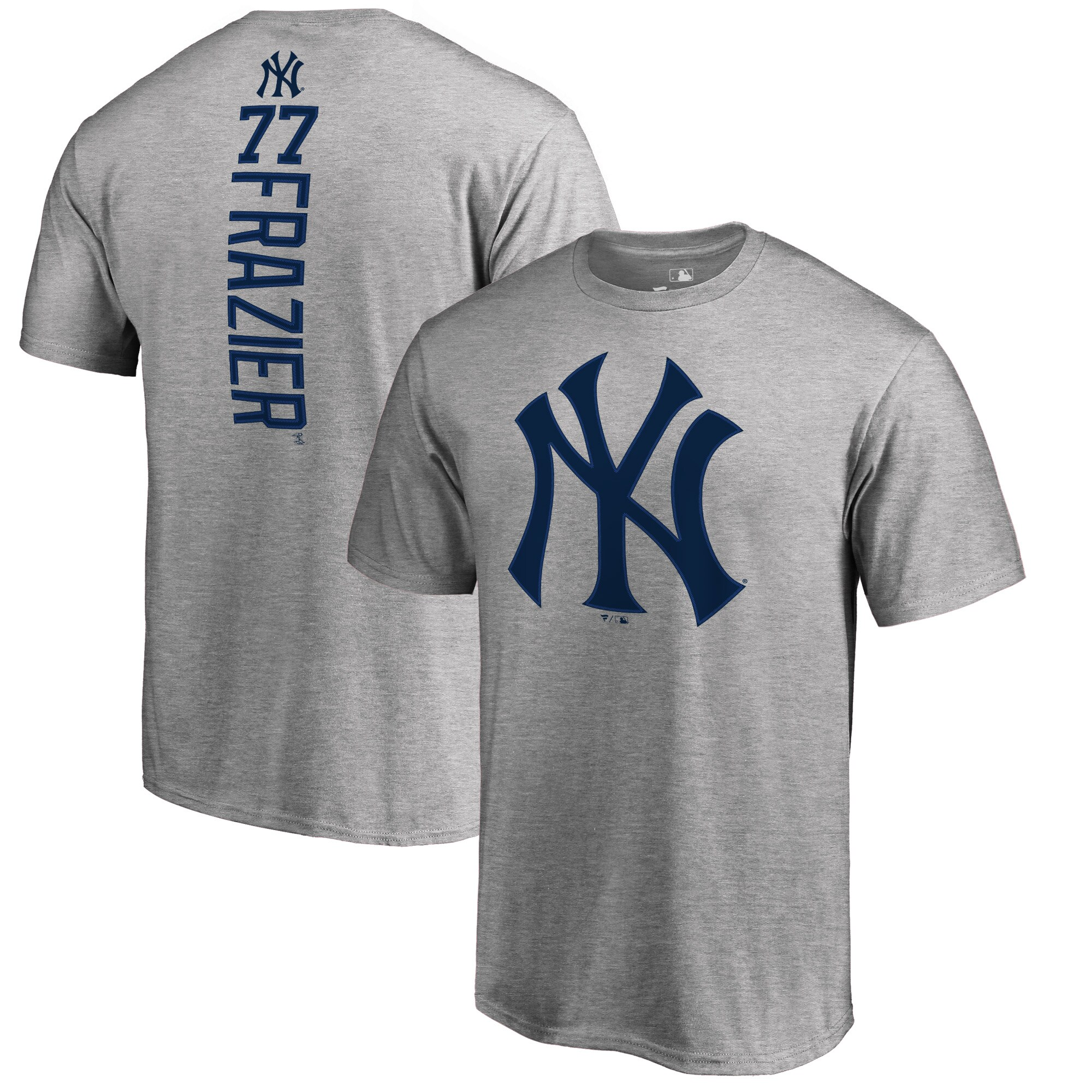 Clint Frazier New York Yankees Fanatics Branded Backer T-Shirt - Heather Gray