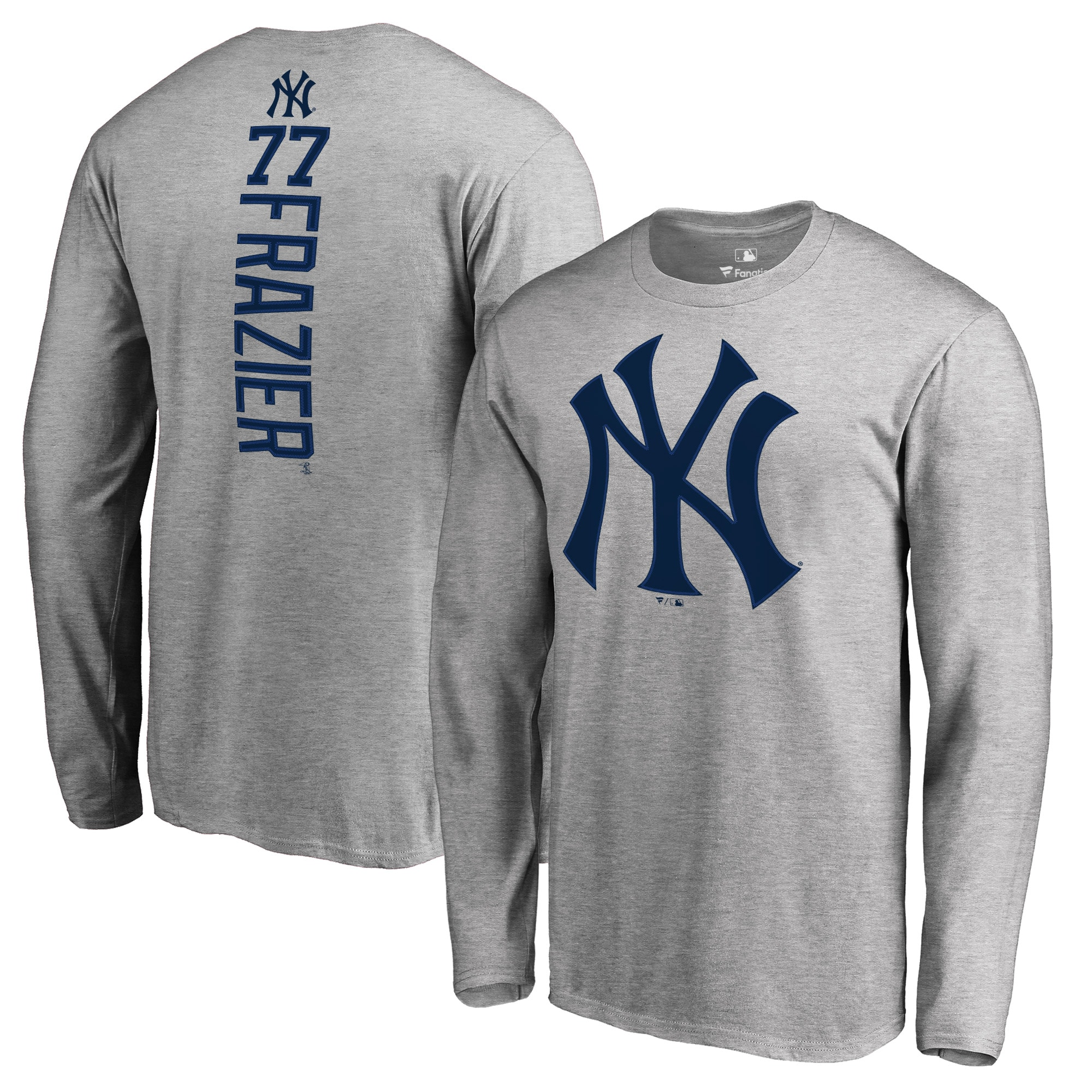 Clint Frazier New York Yankees Fanatics Branded Backer Long Sleeve T-Shirt - Heather Gray