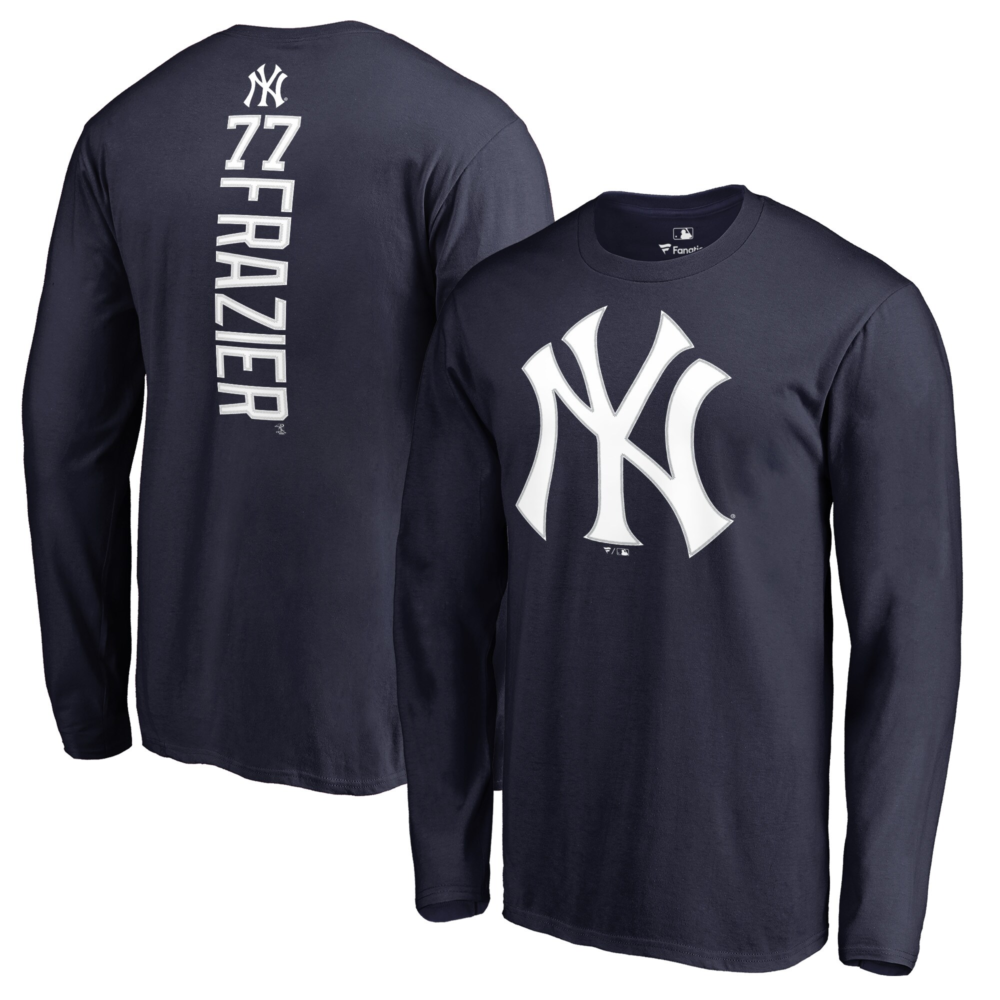 Clint Frazier New York Yankees Fanatics Branded Backer Long Sleeve T-Shirt - Navy