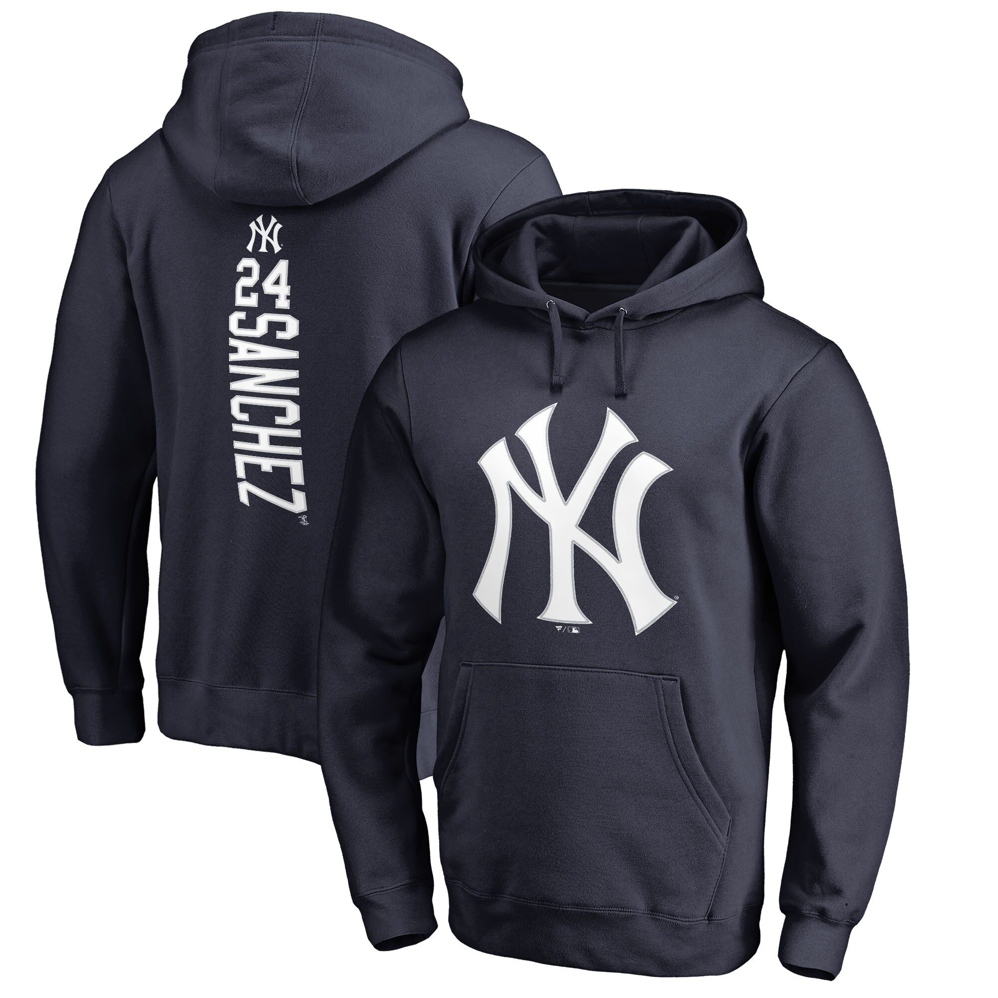 Gary Sanchez New York Yankees Fanatics Branded Backer Pullover Hoodie - Navy