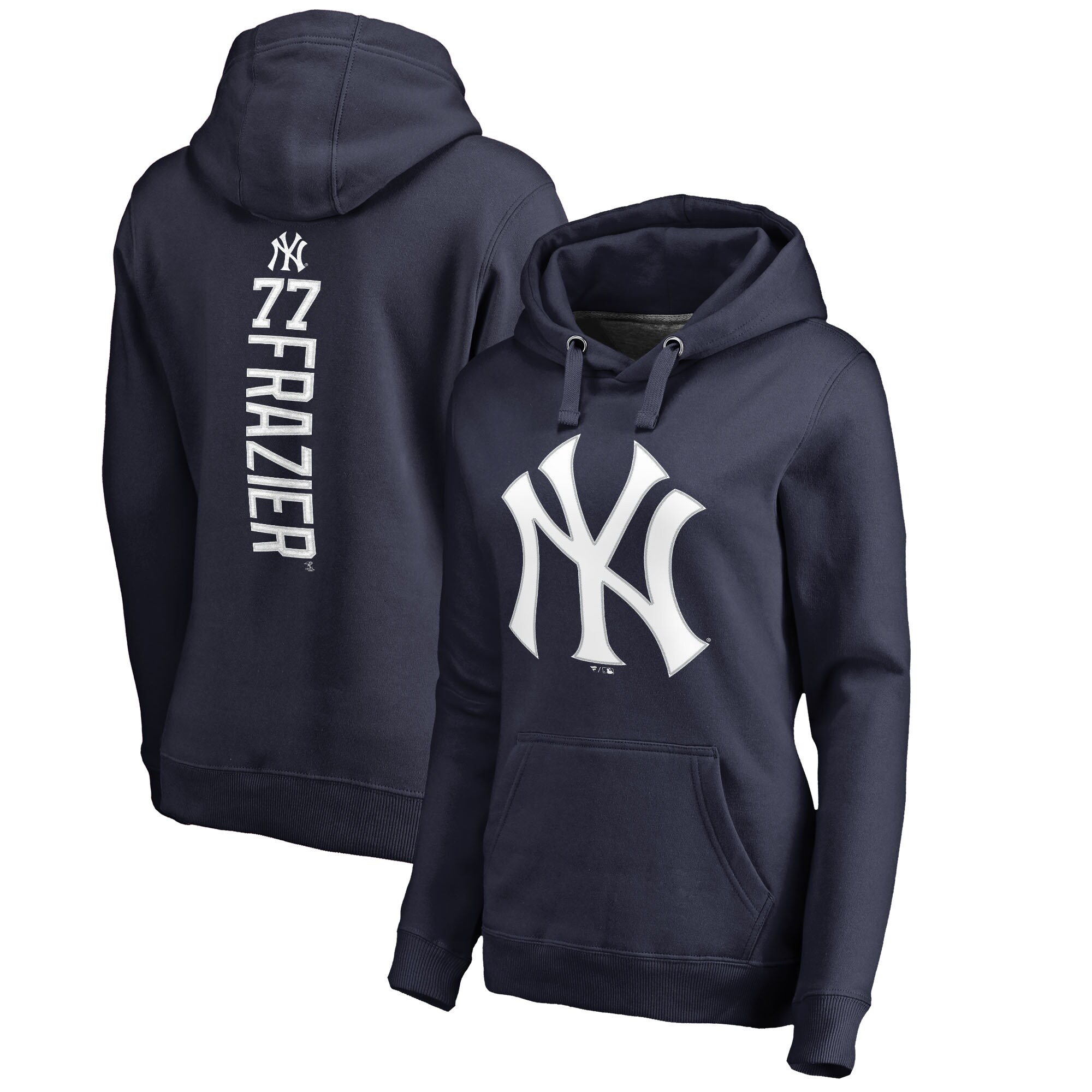 Clint Frazier New York Yankees Fanatics Branded Women's Backer Pullover Hoodie - Navy