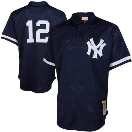 Wade Boggs New York Yankees Mitchell & Ness Cooperstown Mesh Batting Practice Jersey - Navy