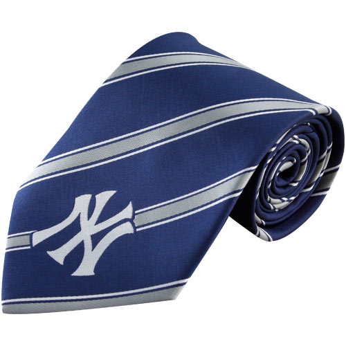 New York Yankees Woven Poly Striped Tie