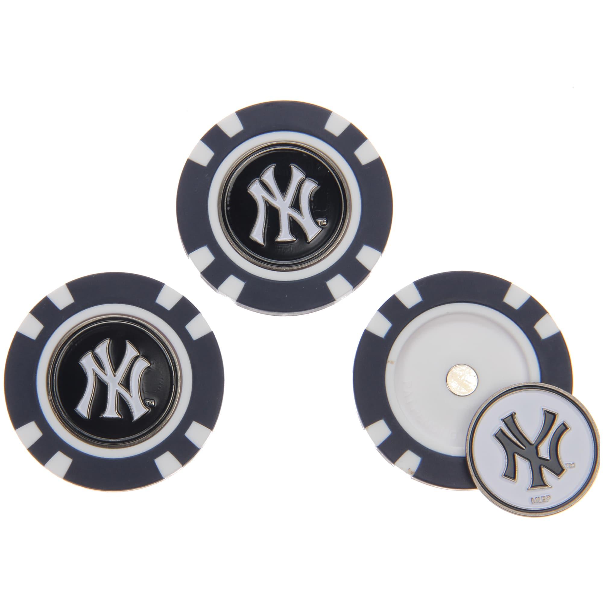New York Yankees 3-Pack Poker Chip Golf Ball Markers